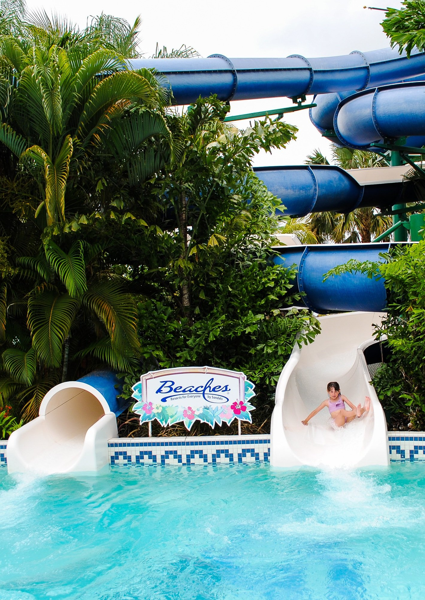 Waterslides at Beaches Negril Hotel