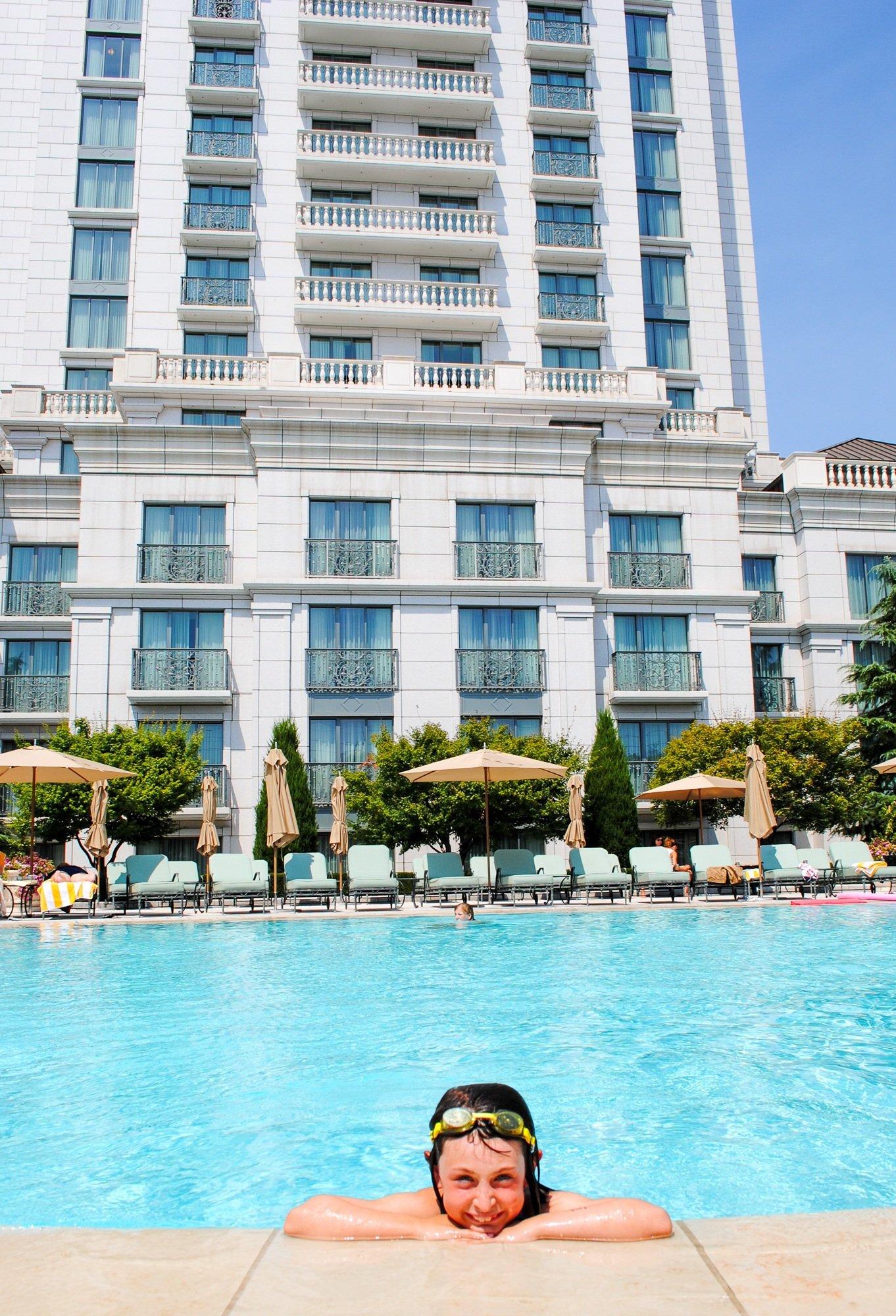 Outdoor pool at Grand America Hotel in Salt Lake City, Utah