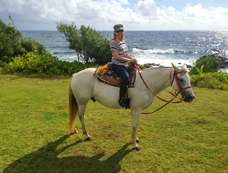 Horseback riding in Hana, Hawaii
