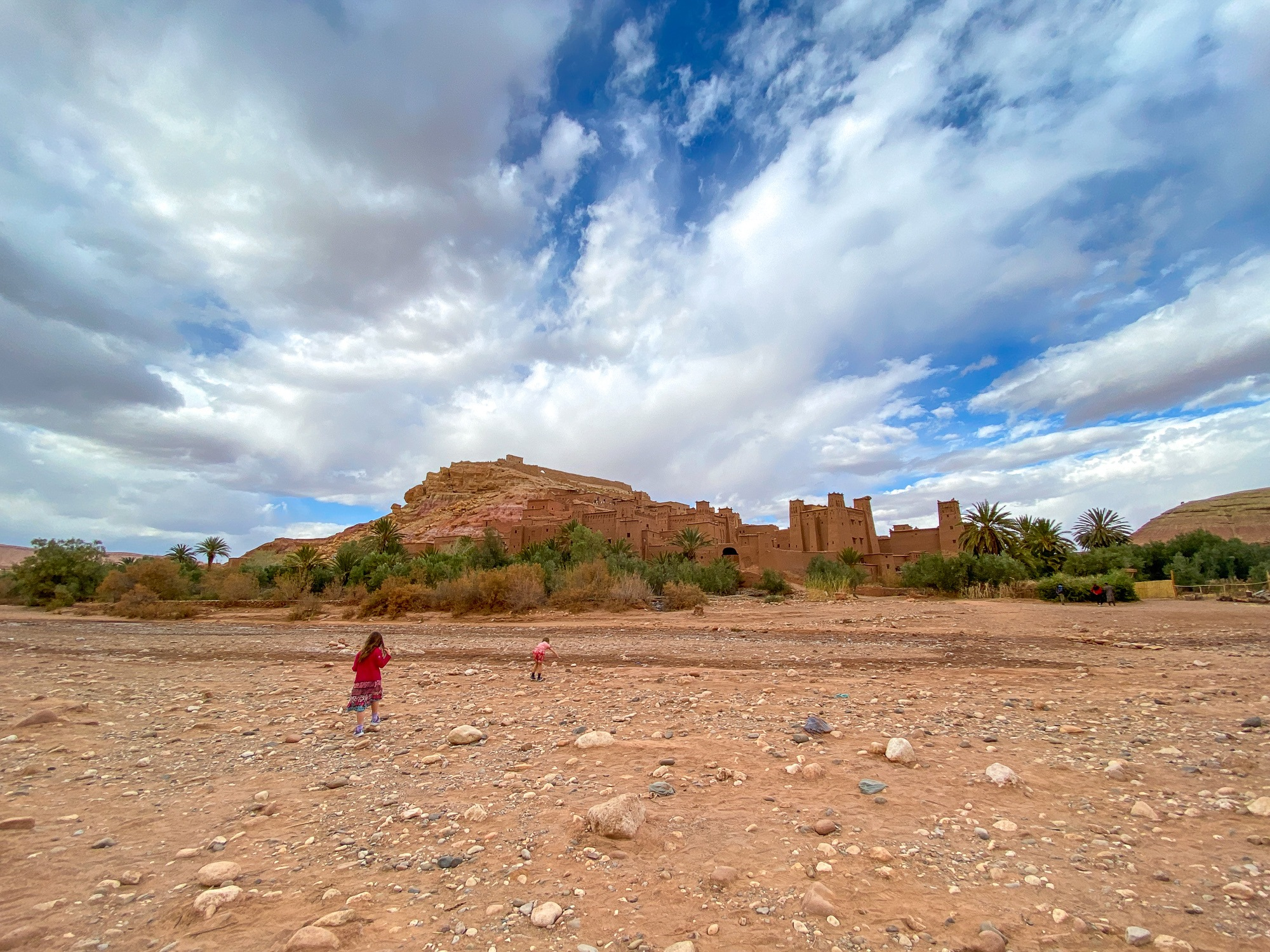 Kids in Morocco at Ait Ben Haddou Village, a UNESCO heritage site