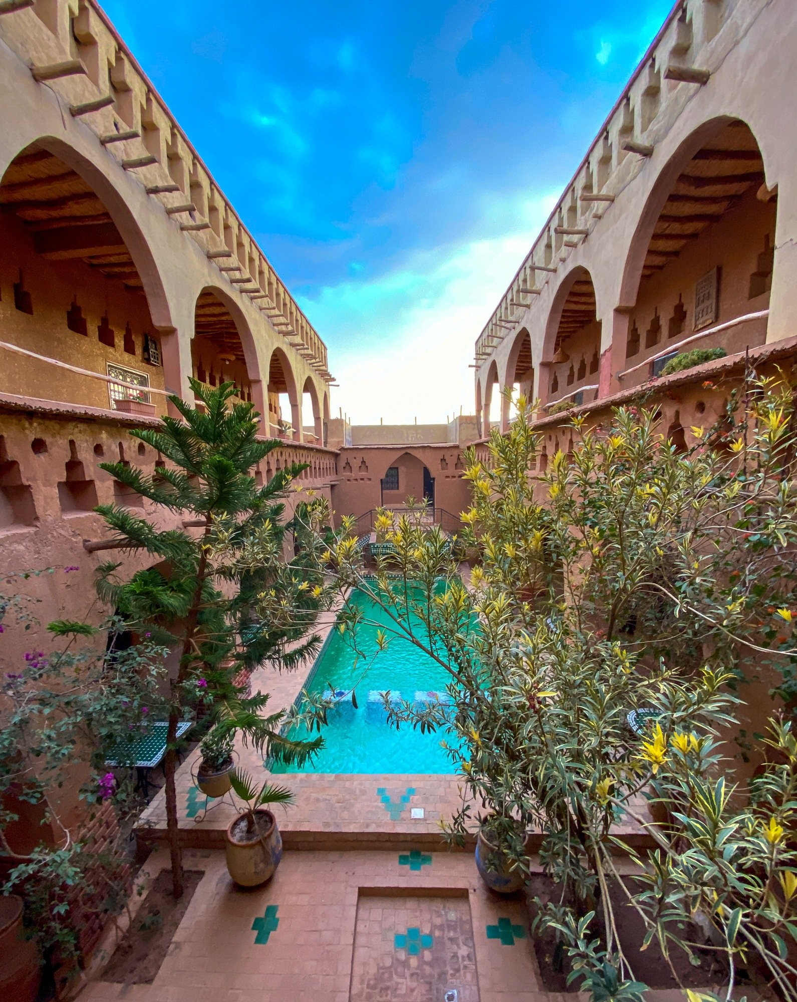 Riad Maktoub courtyard pool