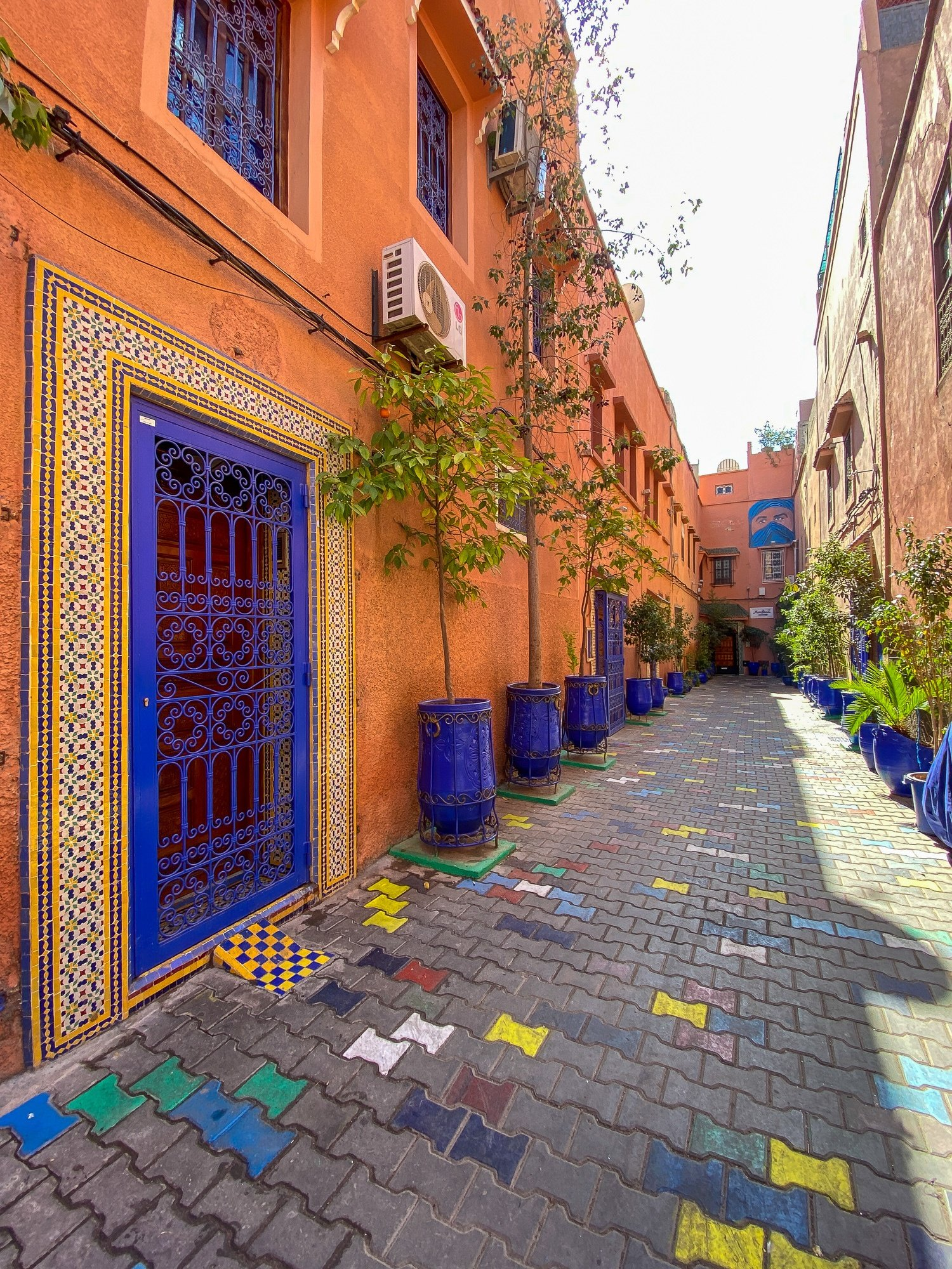 Beautiful Moroccan tiles in the Medina of Marrakech