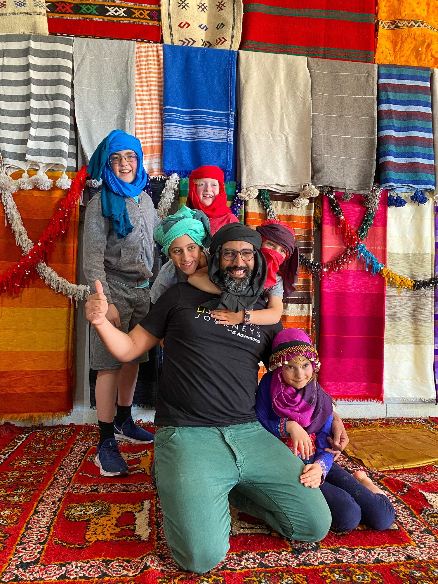 National Geographic Family Journeys/G Adventures Guide Abdul and kids in Morocco