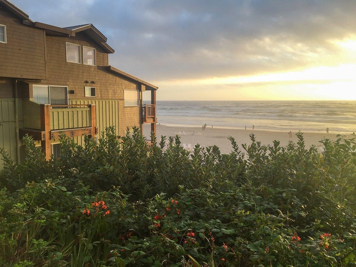 Beach view at Surfsand Resort