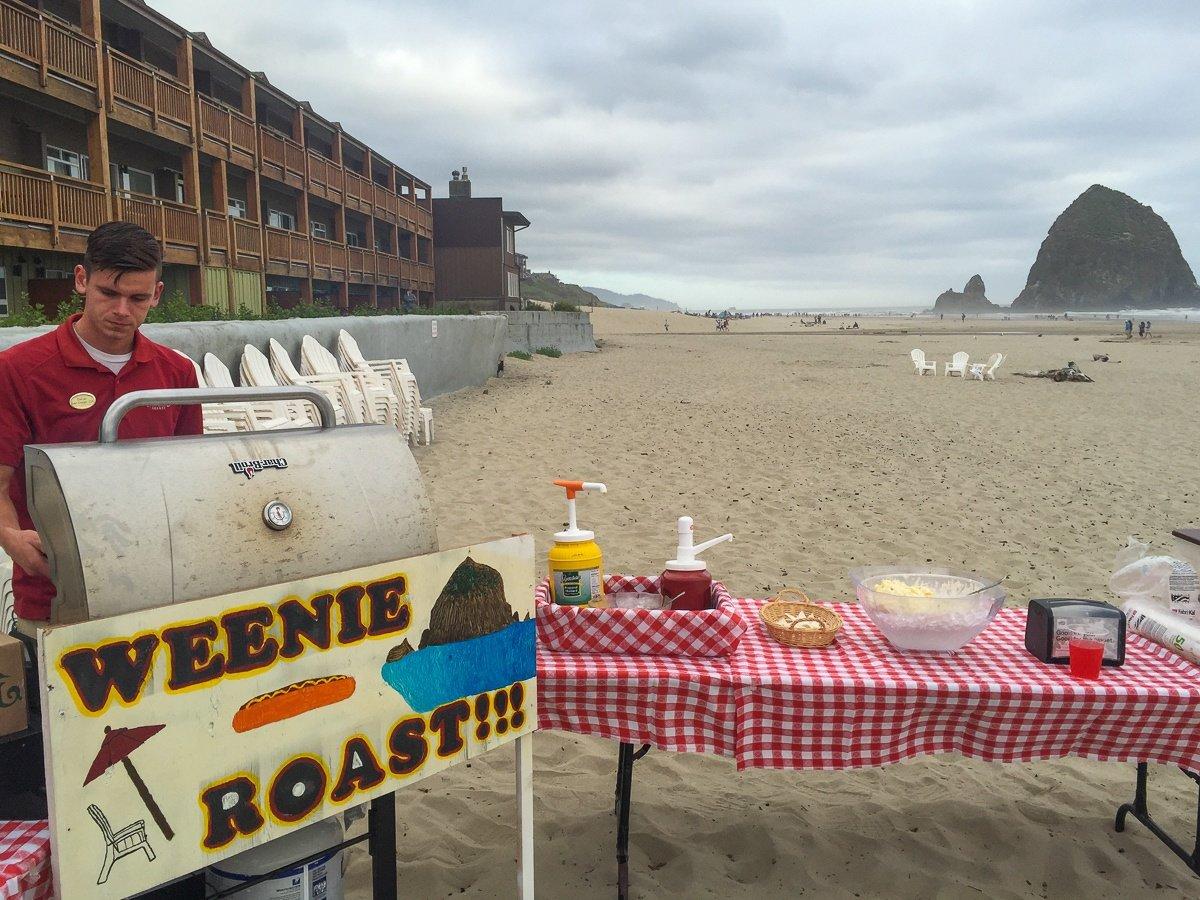 Weenie Roast on the beach at Surfsand Resort