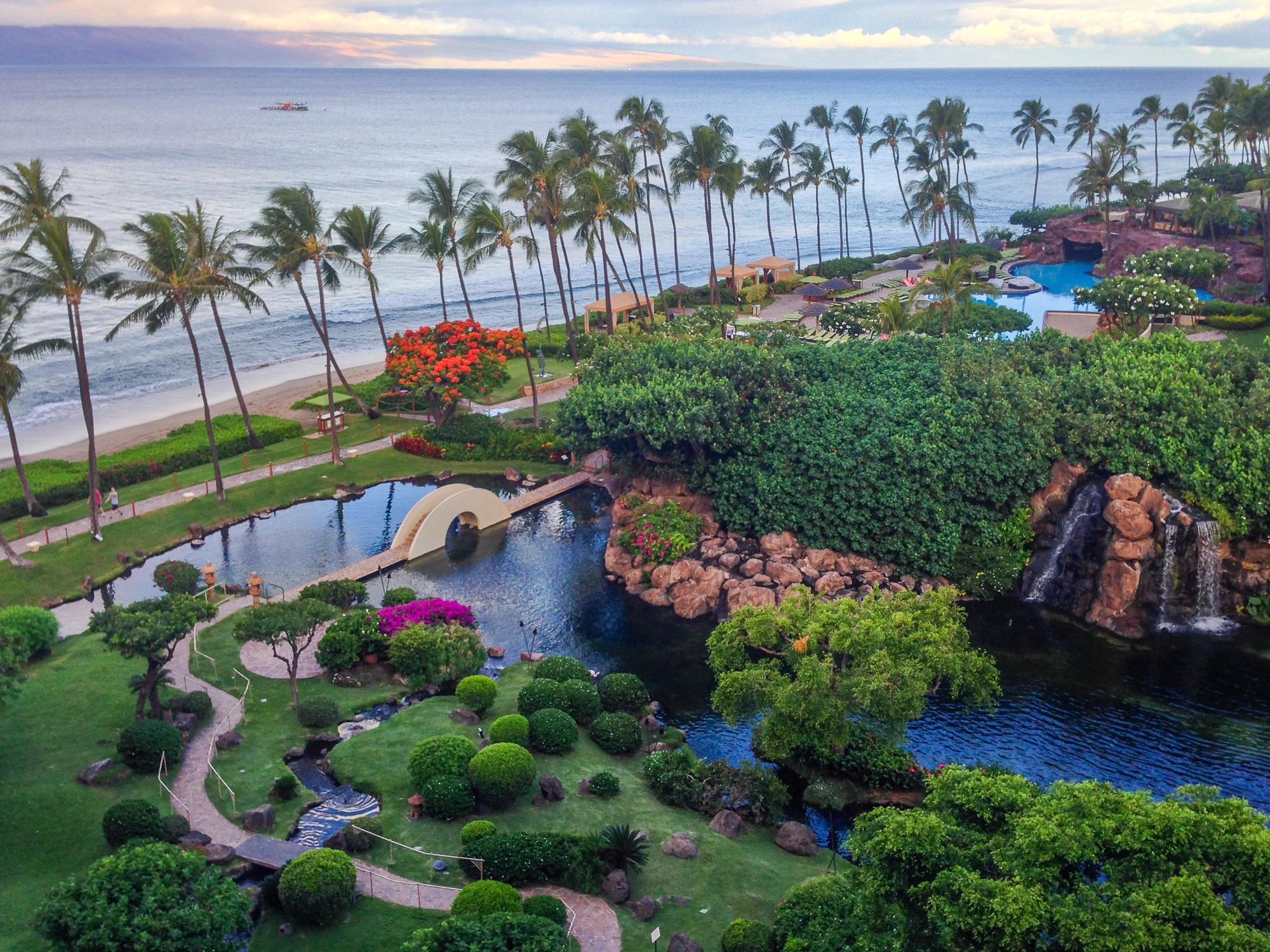 Hyatt Regency Maui's lush grounds