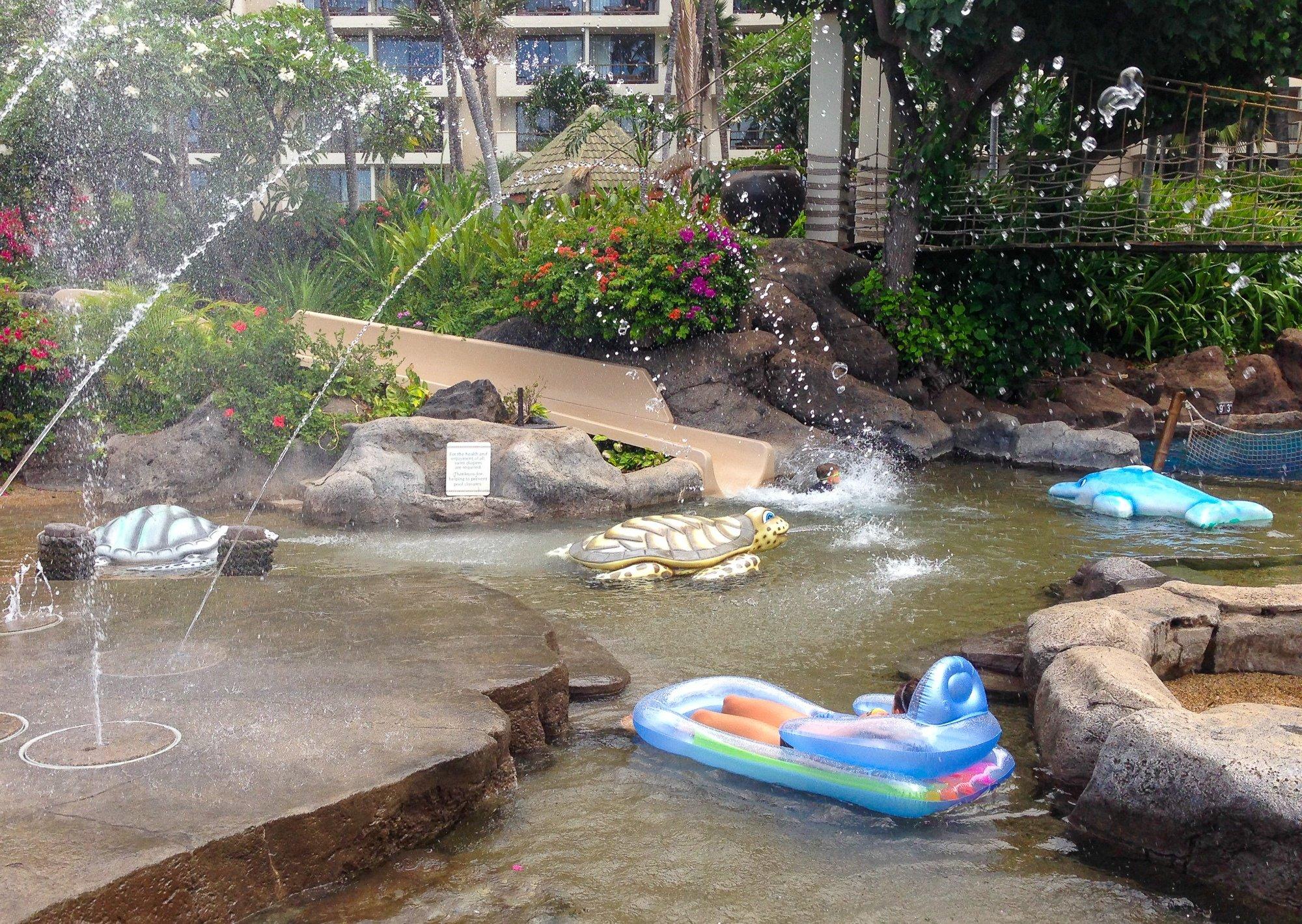 Keiki Lagoon waterslide at Hyatt Regency Maui Resort and Spa