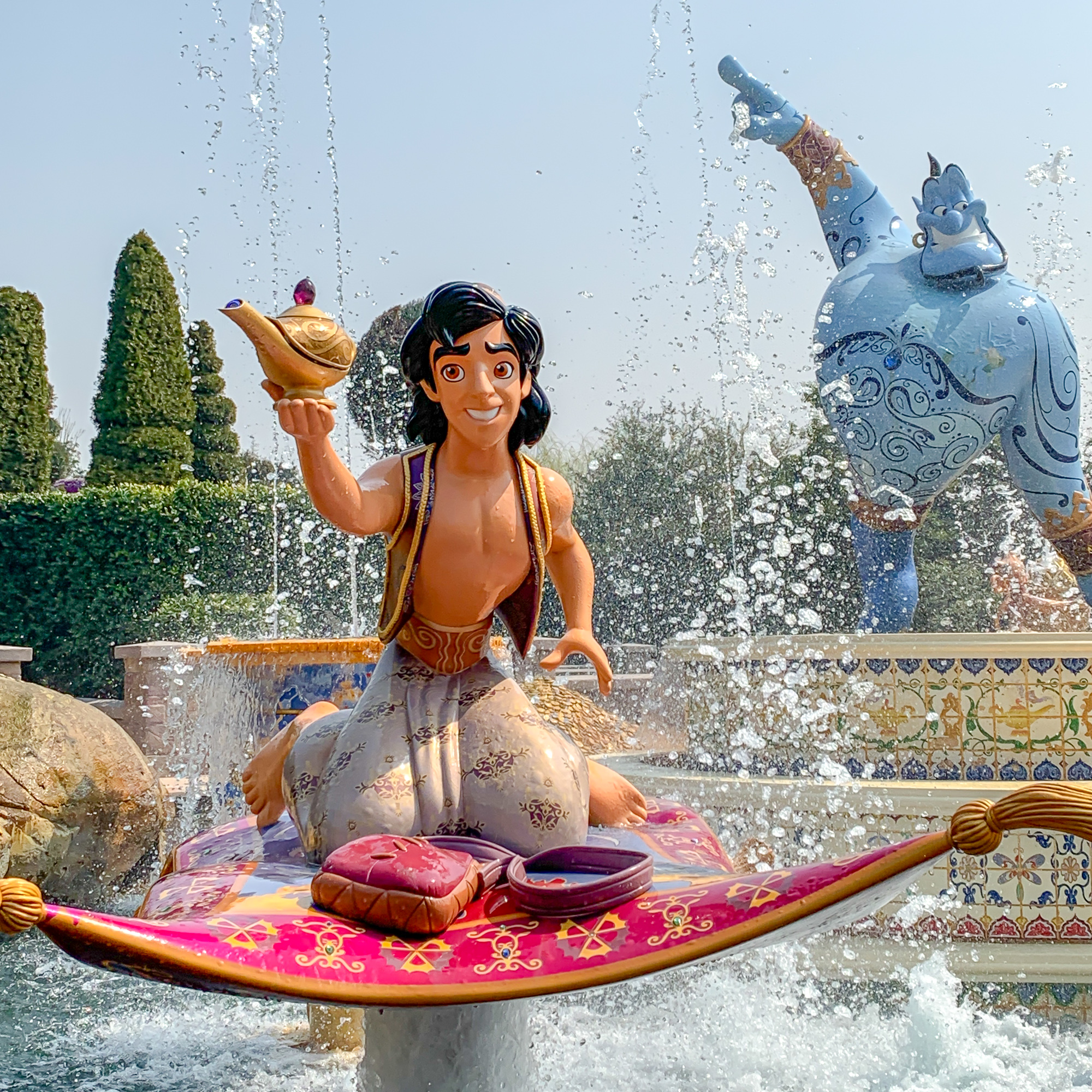 Aladdin display on on Voyage to the Crystal Grotto