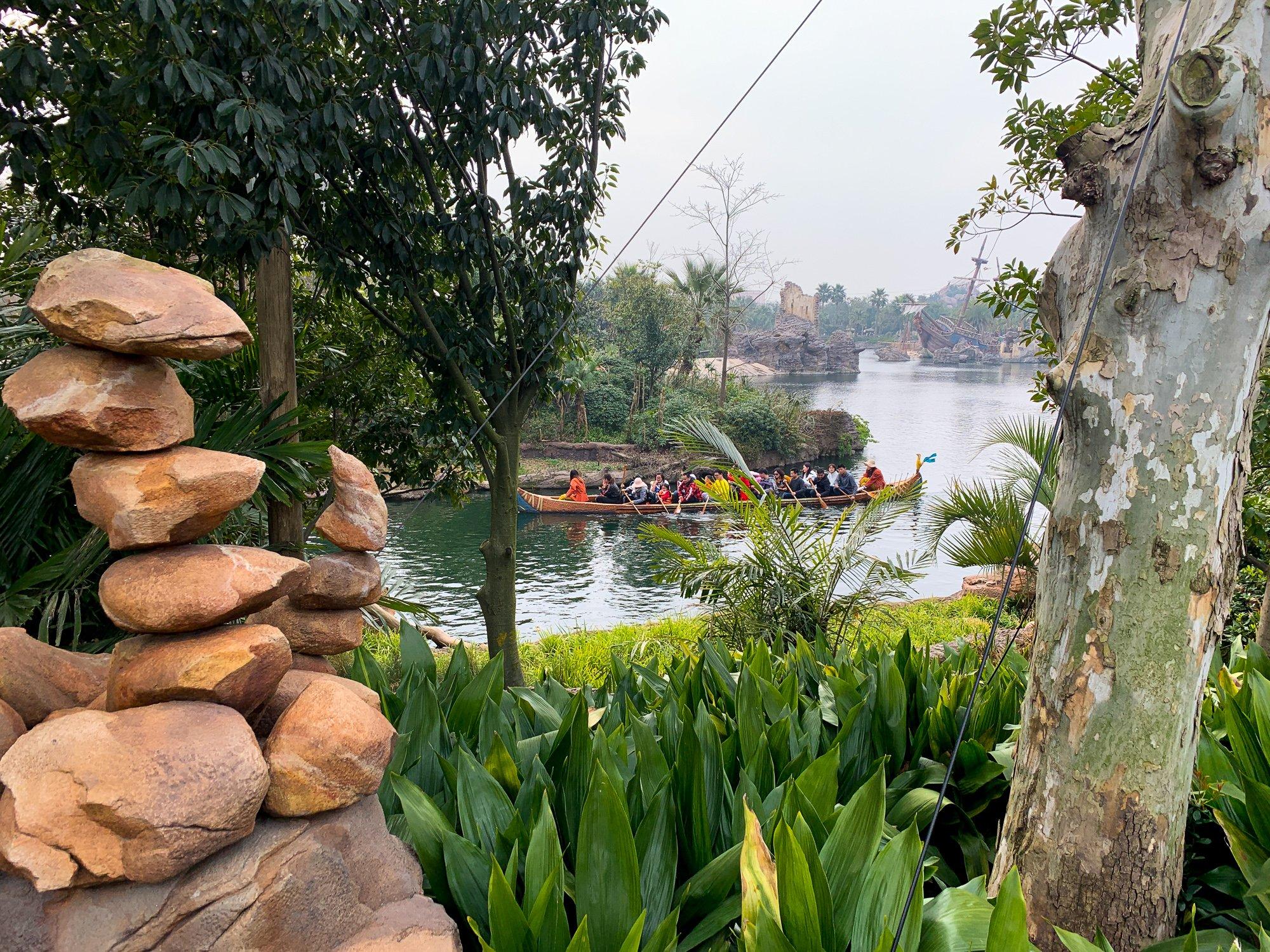 People-powered Explorer Canoes at Shanghai Disneyland