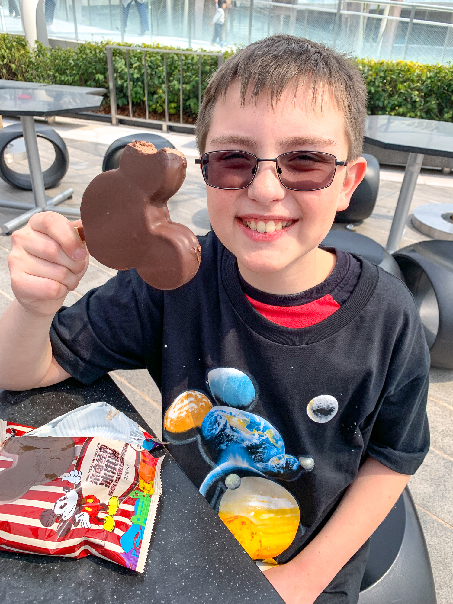 Mickey-shaped ice cream treat