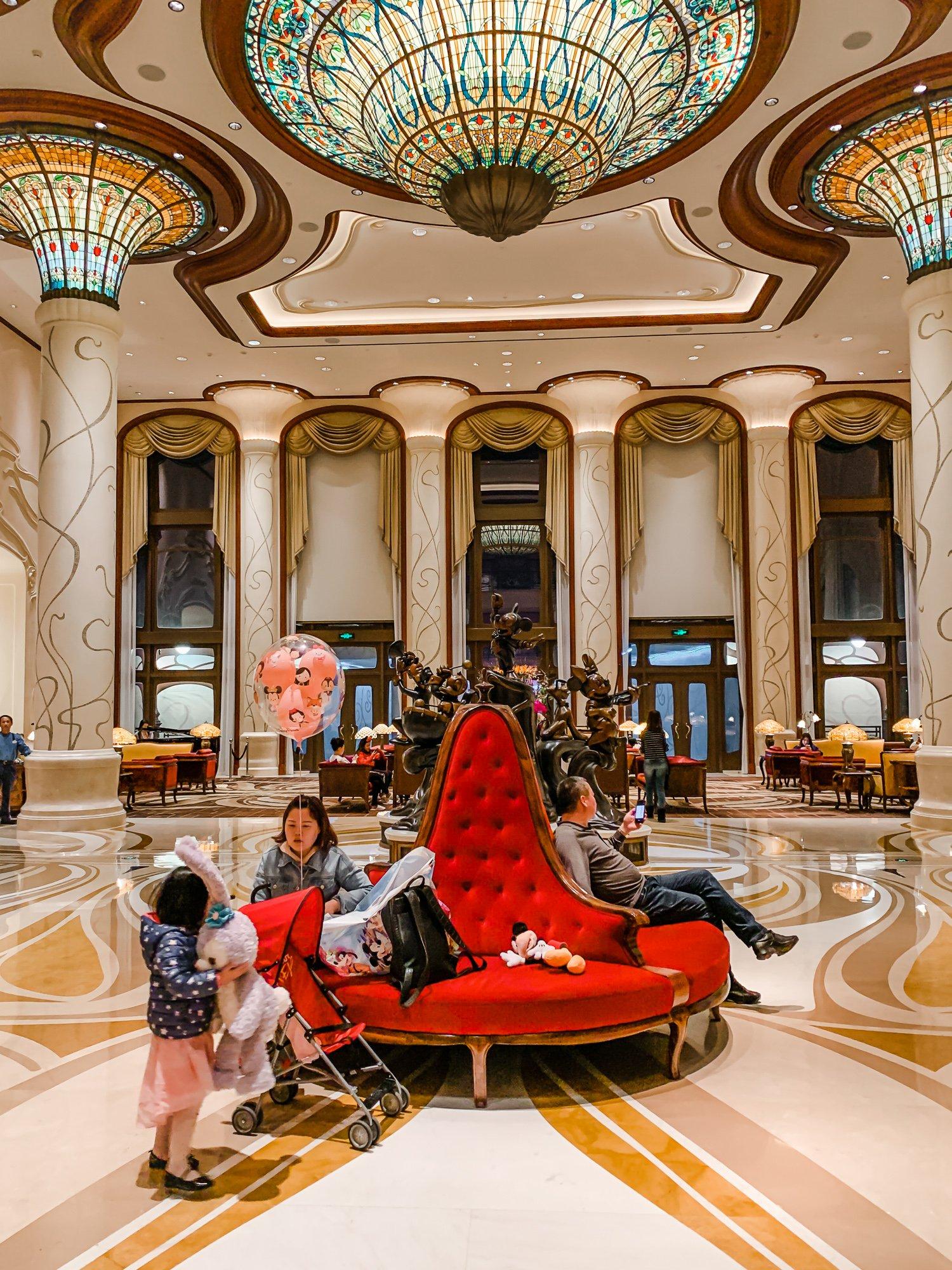 Lobby at Shanghai Disneyland Hotel