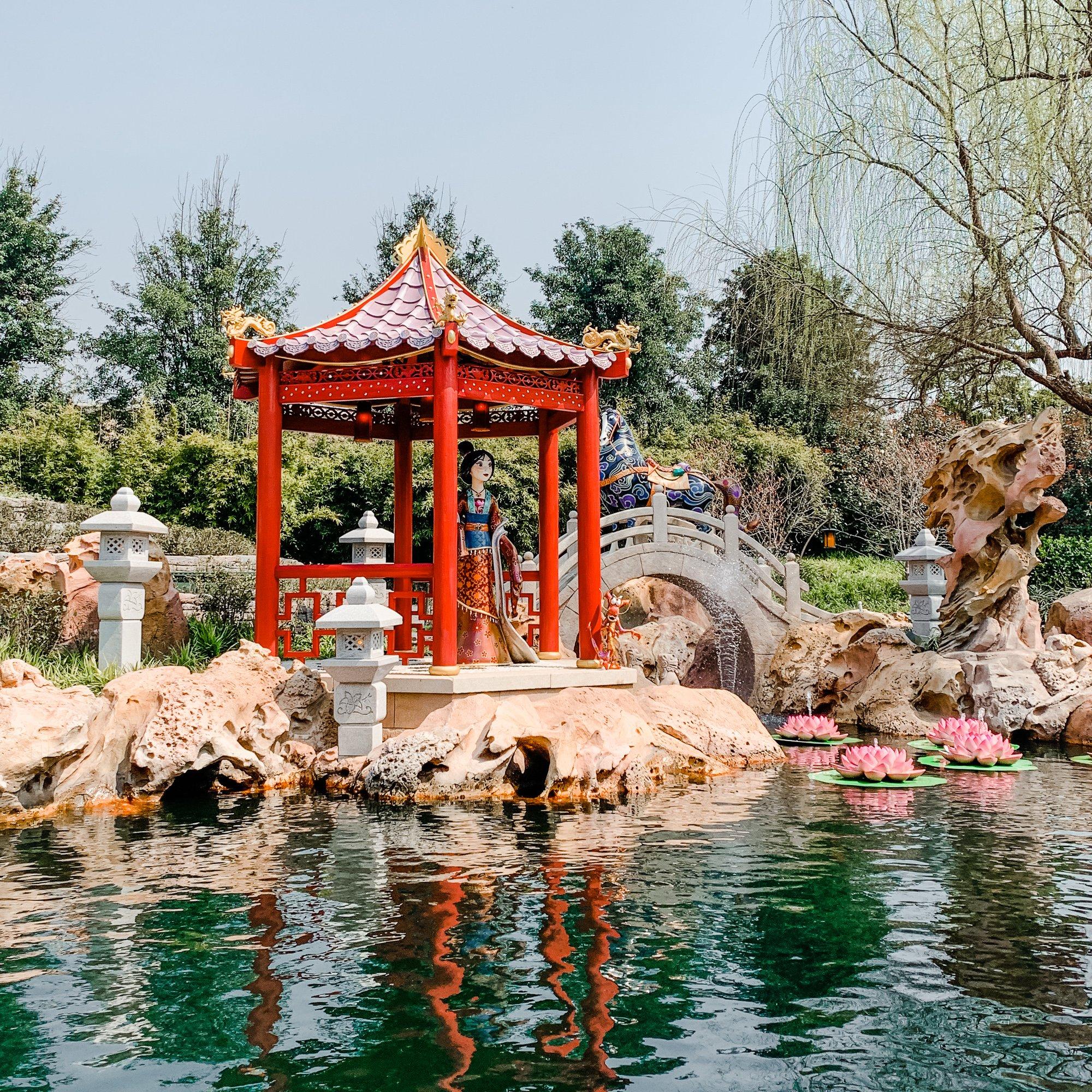 Mulan display on Voyage to the Crystal Grotto in Fantasyland