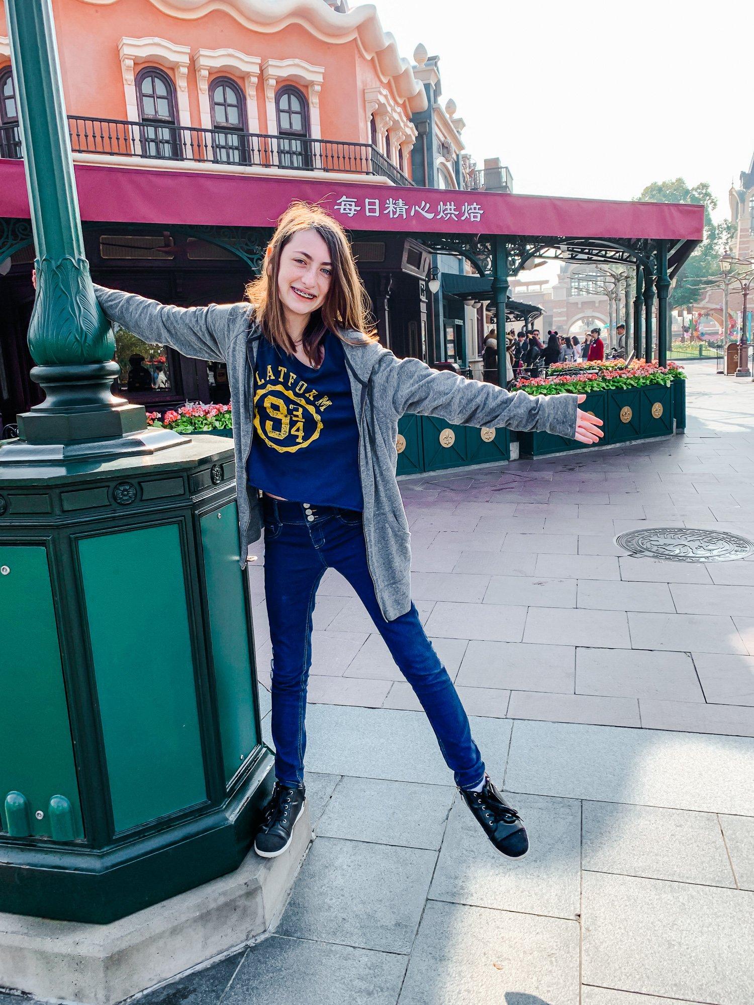 Teen at Shanghai Disneyland