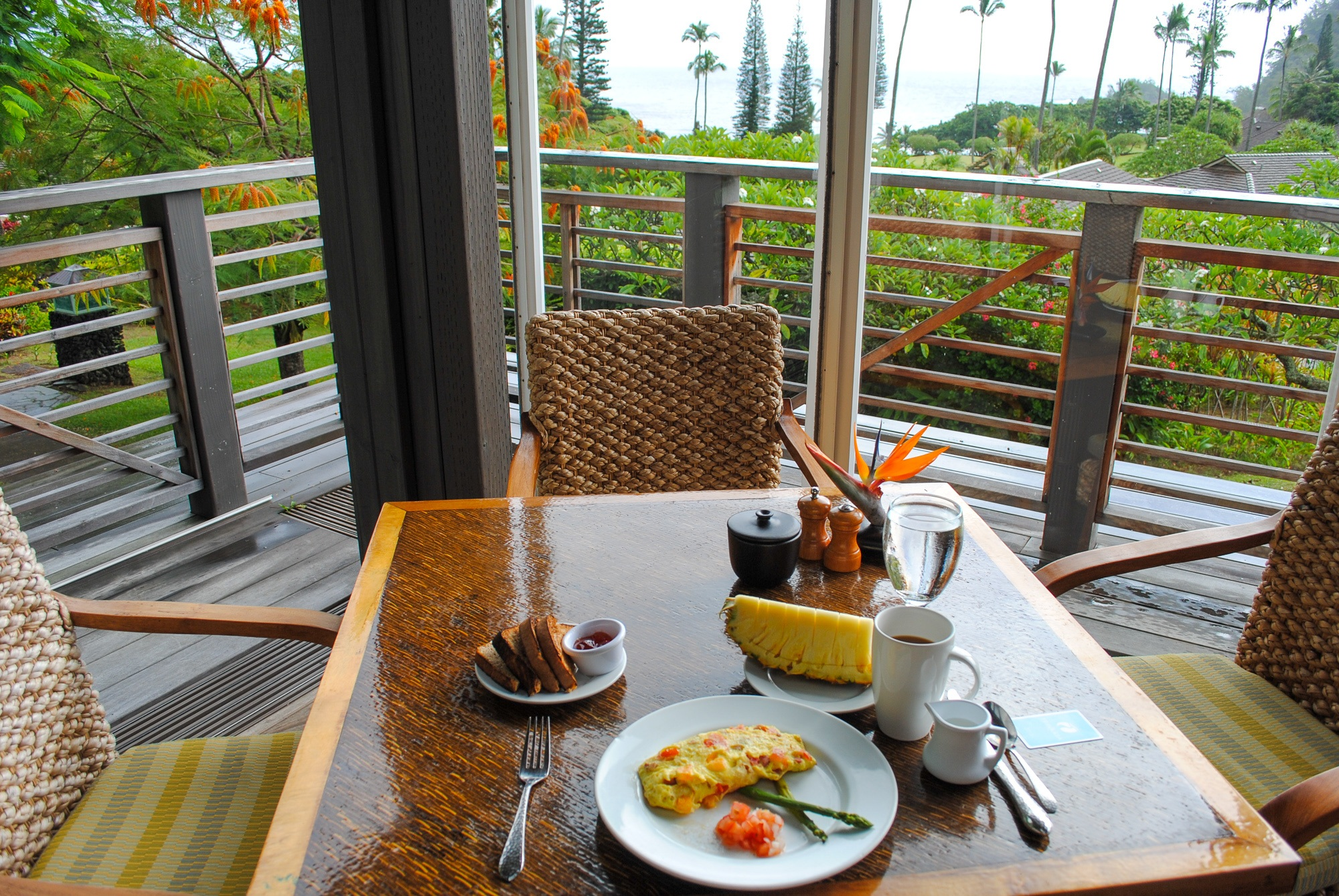 Breakfast with a view at Hana Maui Resort