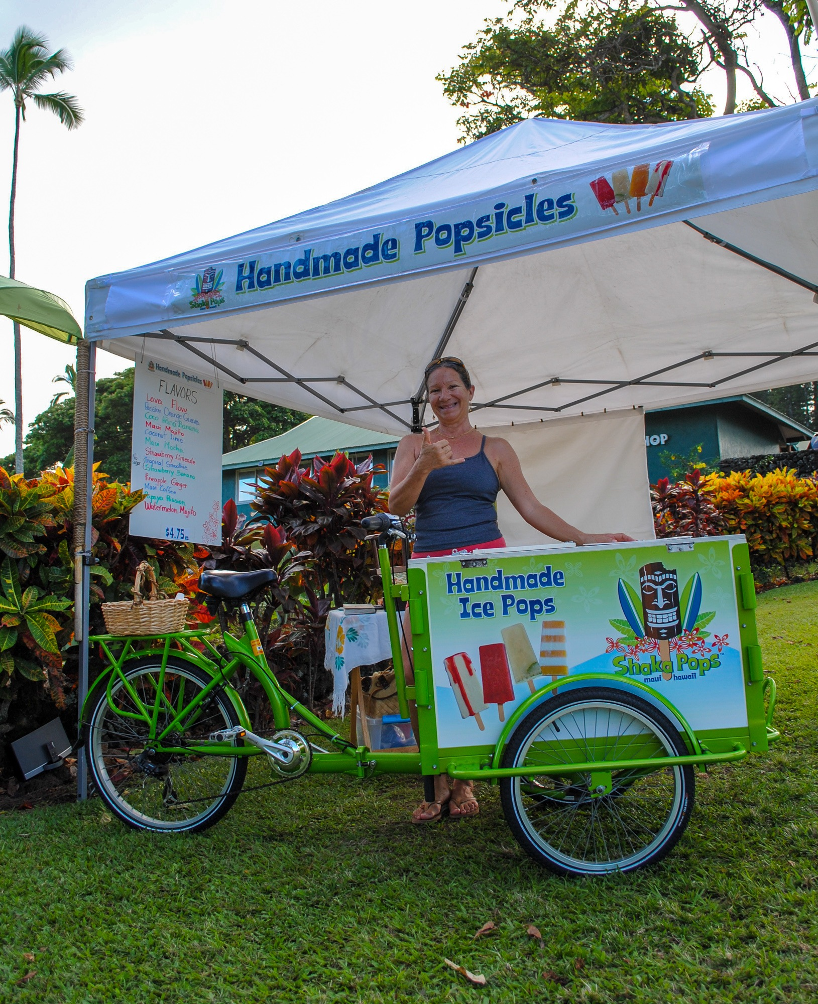 Ice pops for sale in Hana, Maui