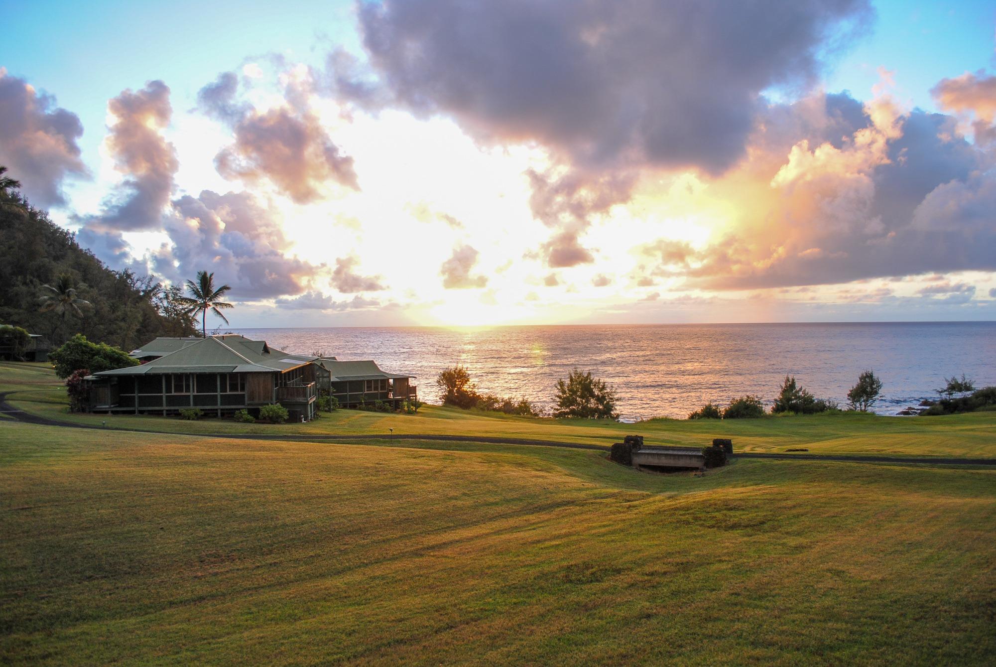 Sunset at Hana Maui Resort in Maui, Hawaii