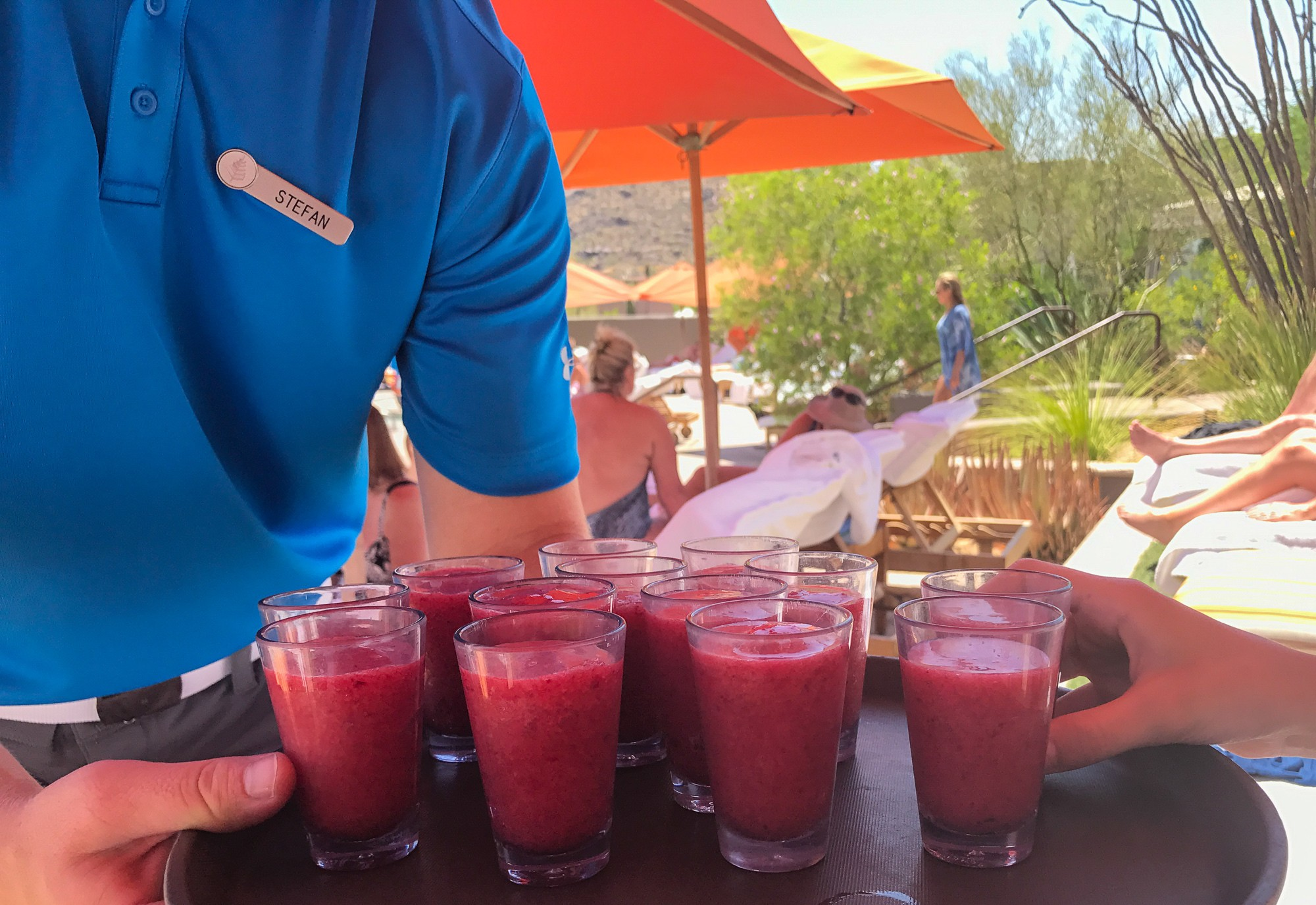 Poolside smoothies at Four Seasons Scottsdale
