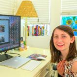 Young teen learning a new language with Rosetta Stone