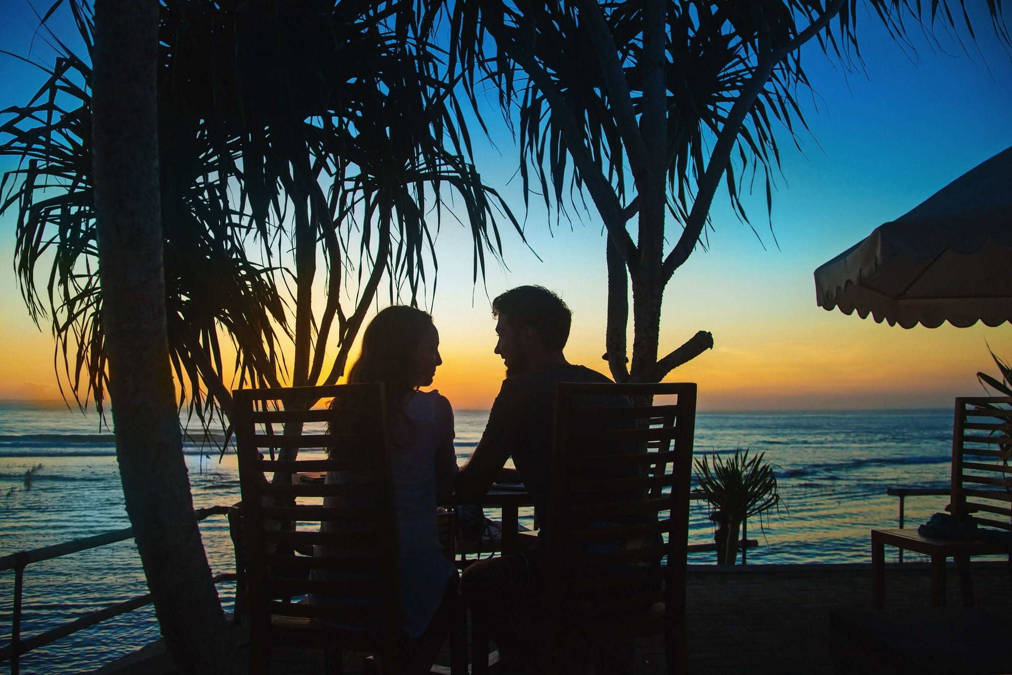 Vacation date night in tropical destination