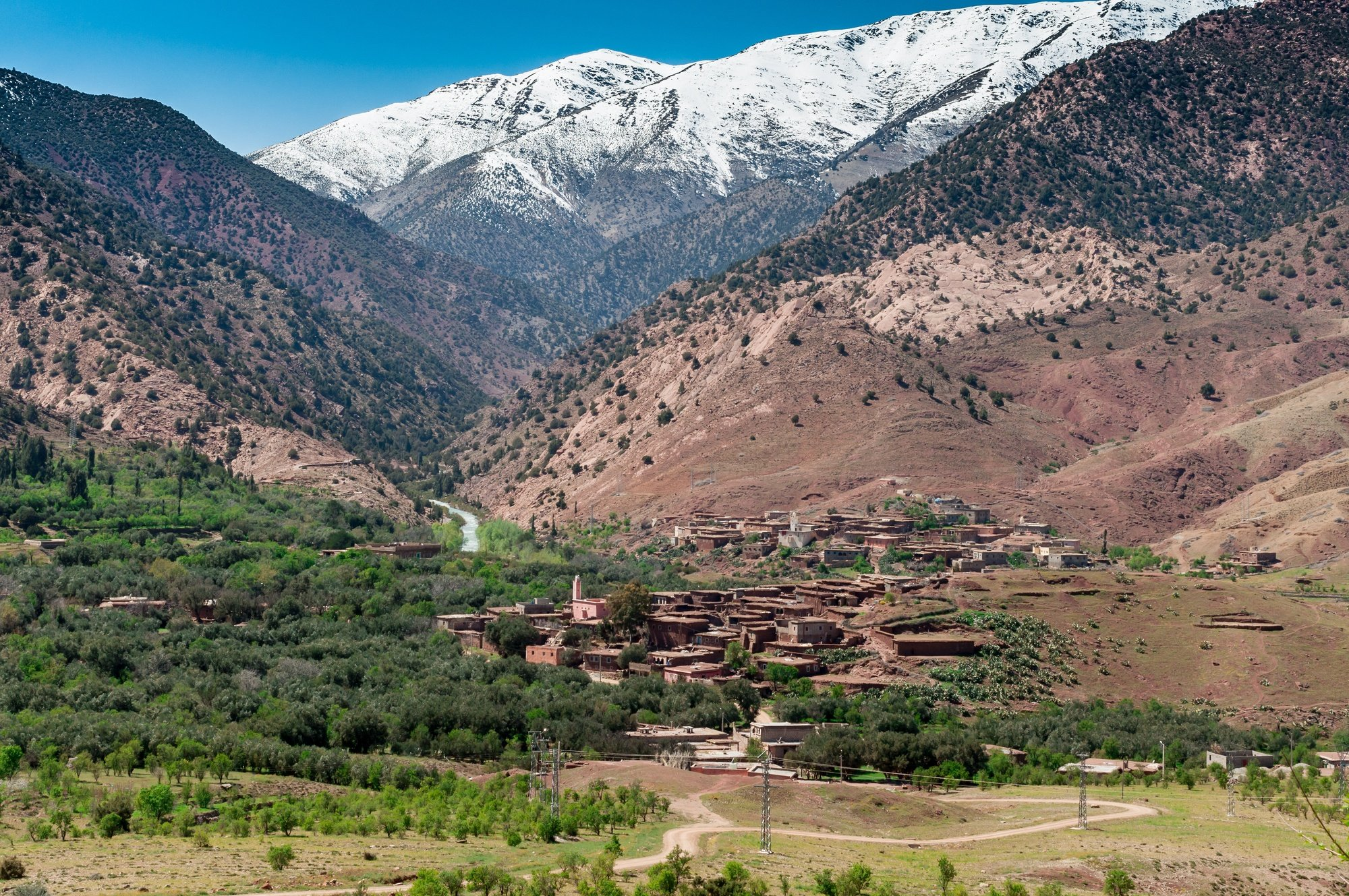 A valley in the High Atlas Mountains in Morocco