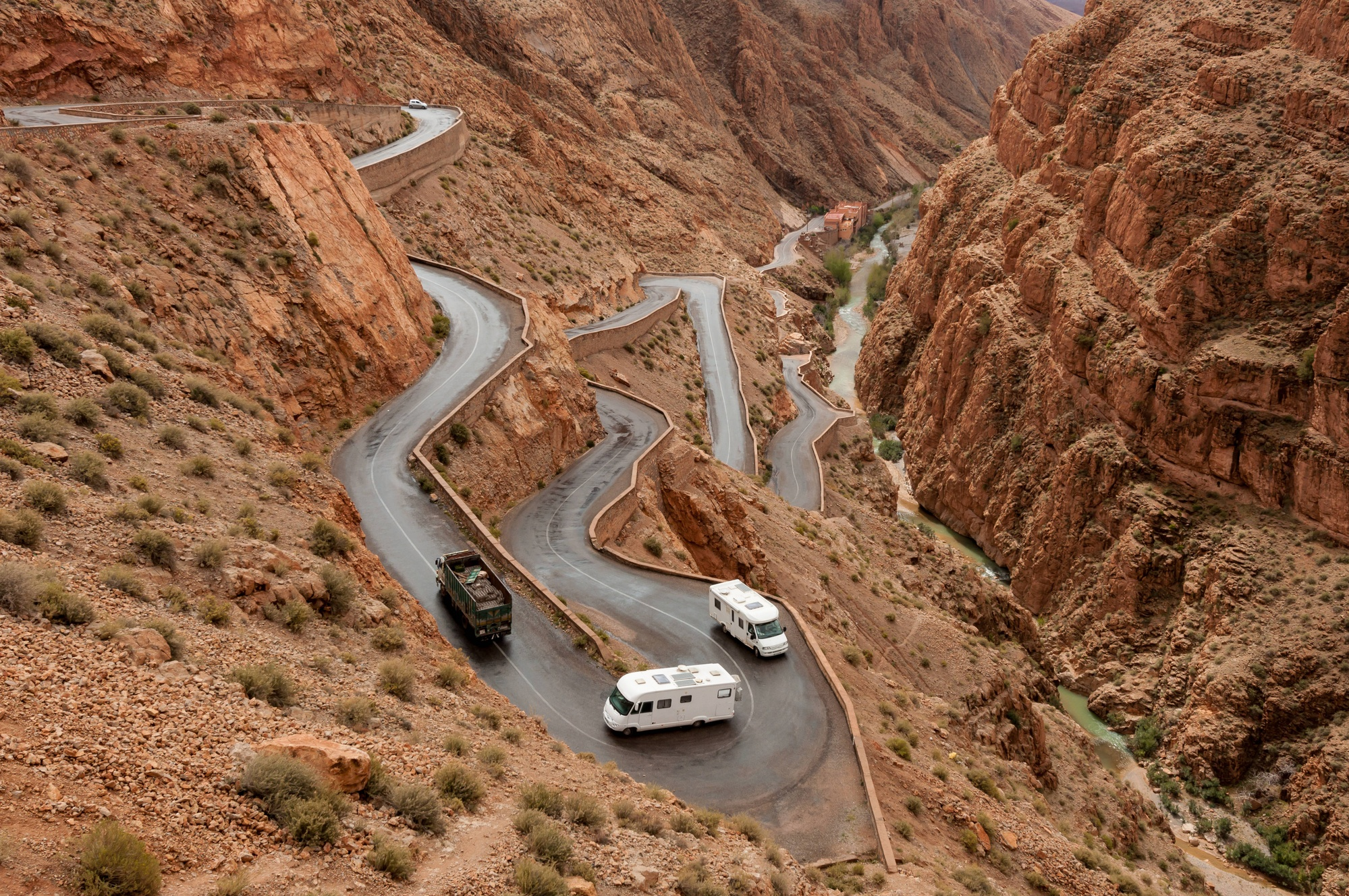 Winding road in the Atlas Mountains