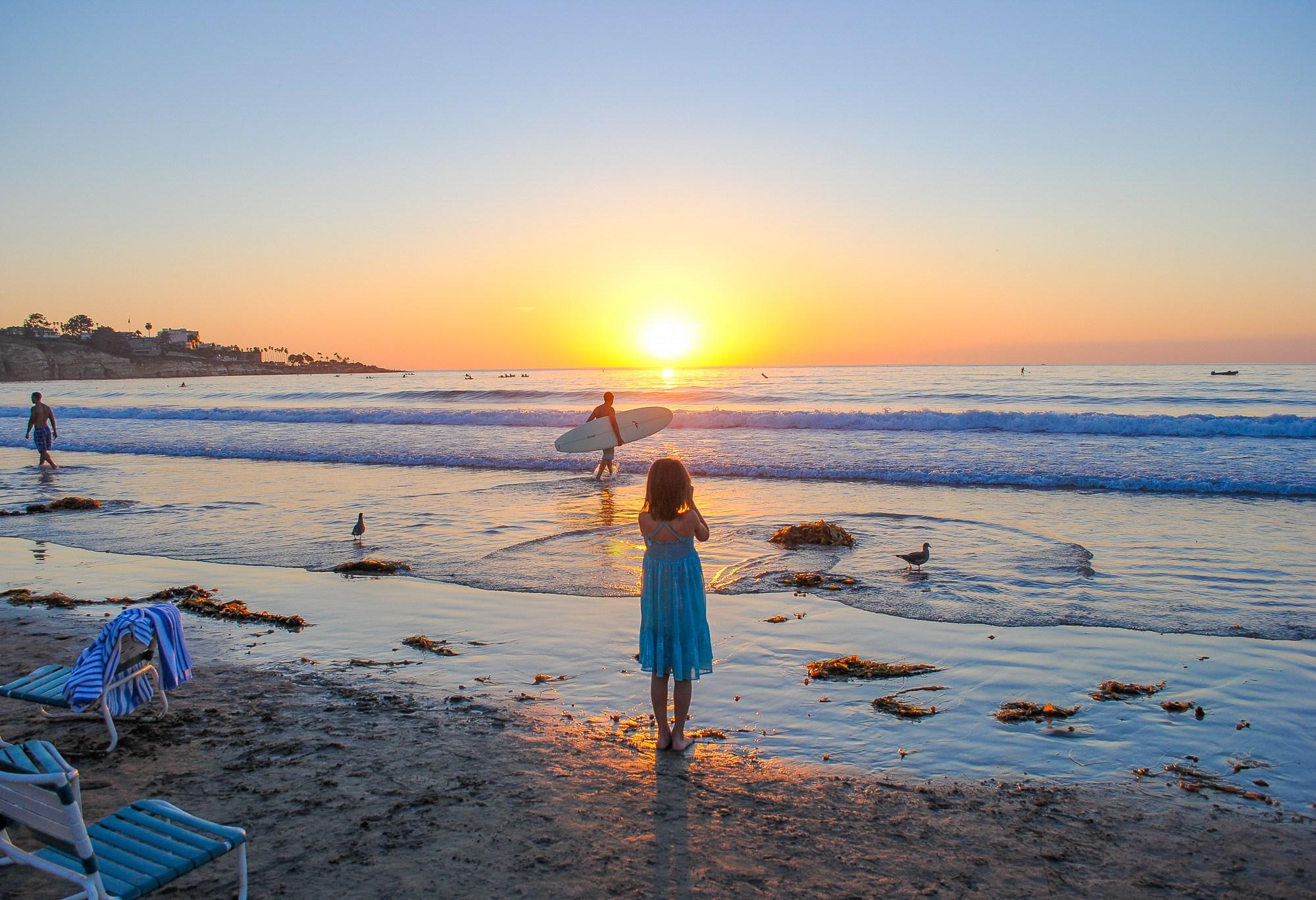 San Diego, California beach scene