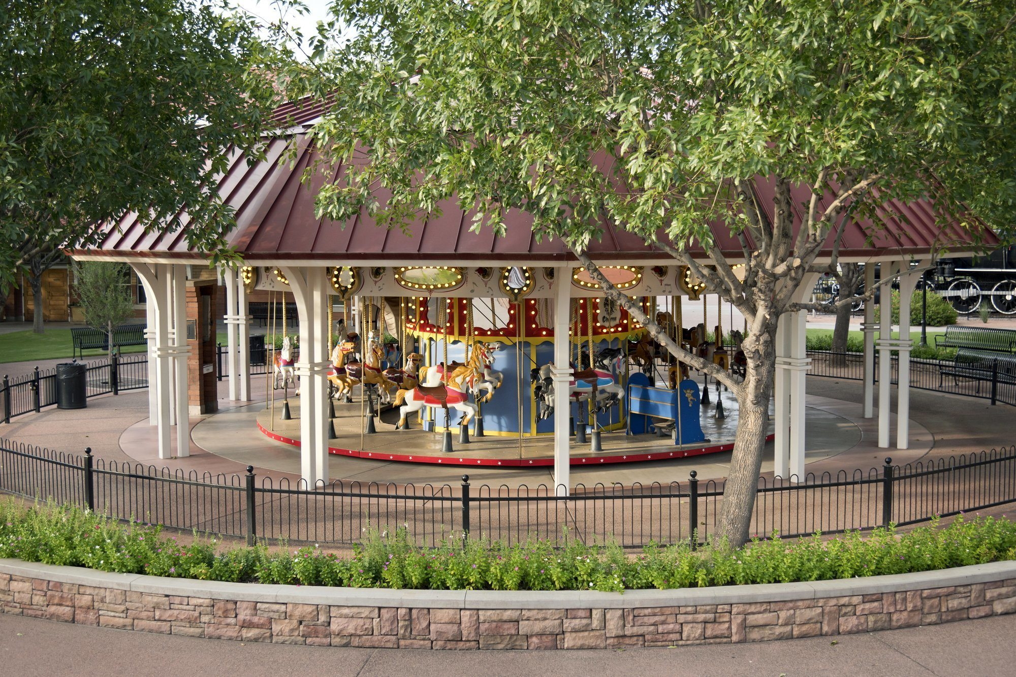 Charros Carousel at McCormick-Stillman Railroad Park