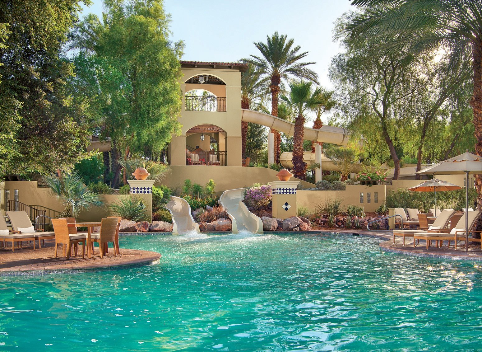 Waterslides at the Fairmont Scottsdale Princess