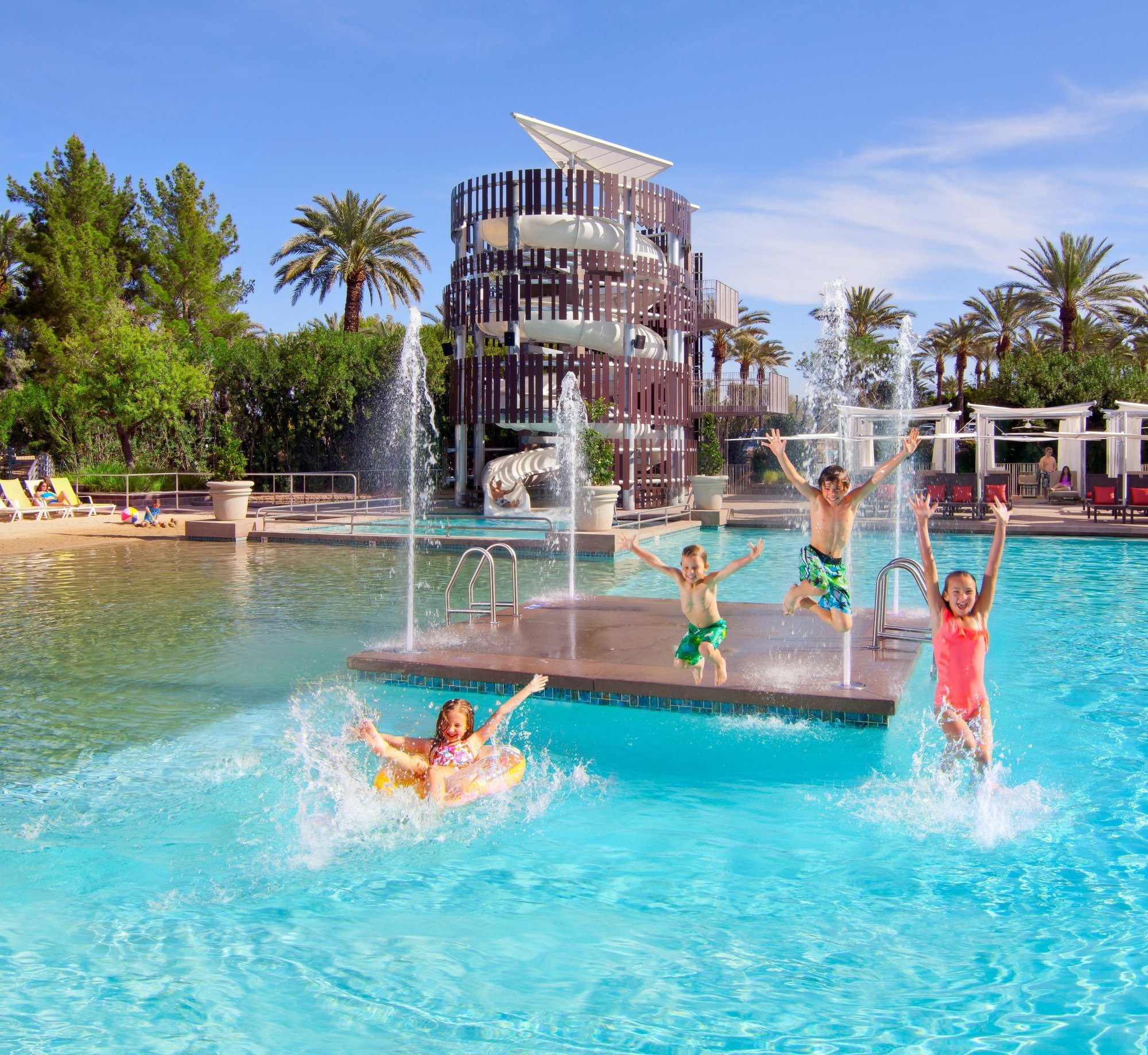 Waterslide and splash pad at Hyatt Regency Resort & Spa at Gainey Ranch