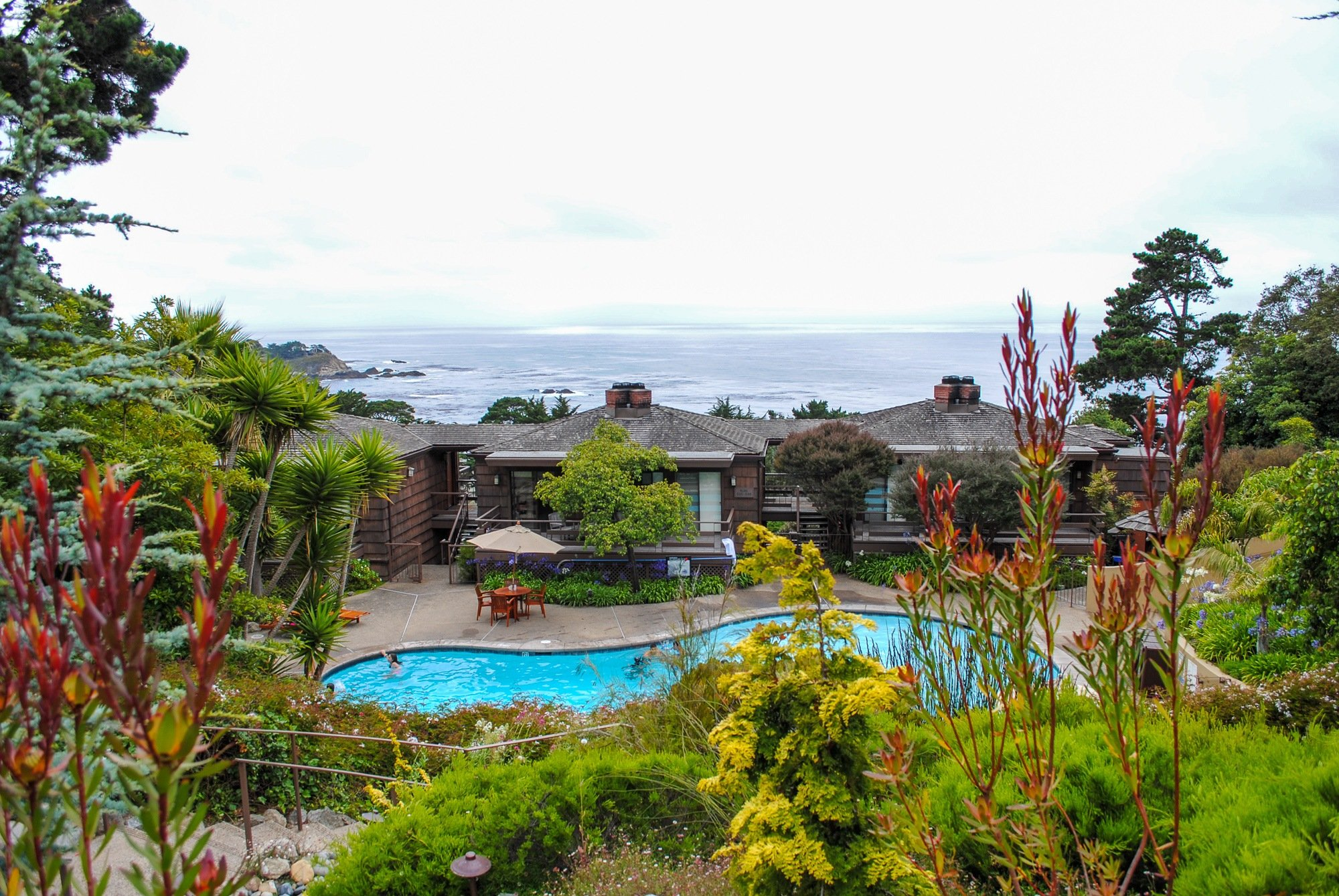 Hyatt Carmel Highlands pool and incredible ocean views