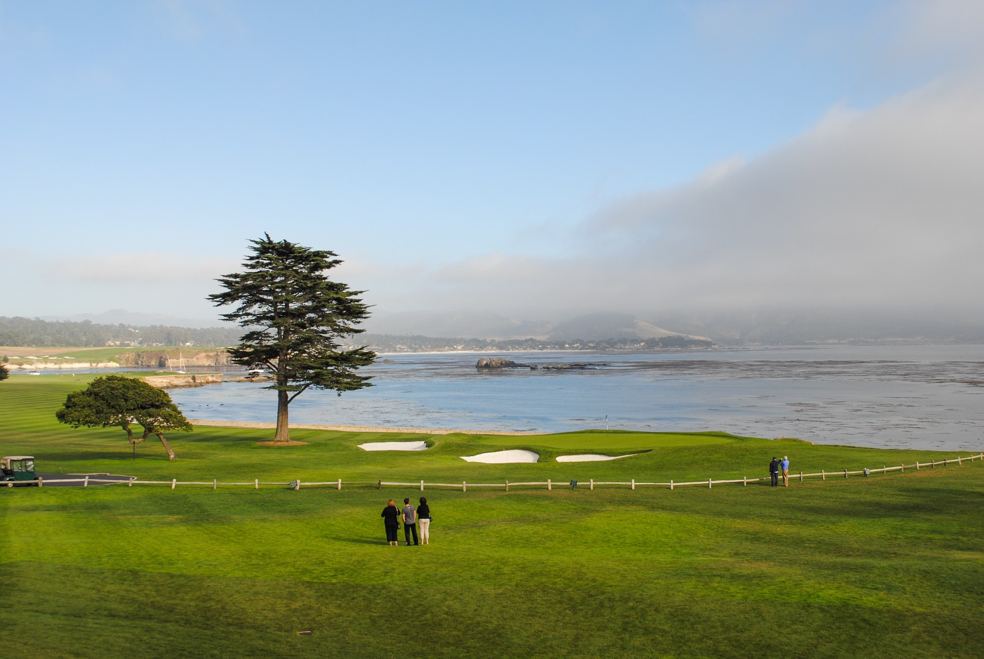 Just a sliver of the sweeping view at Pebble Beach Golf Club