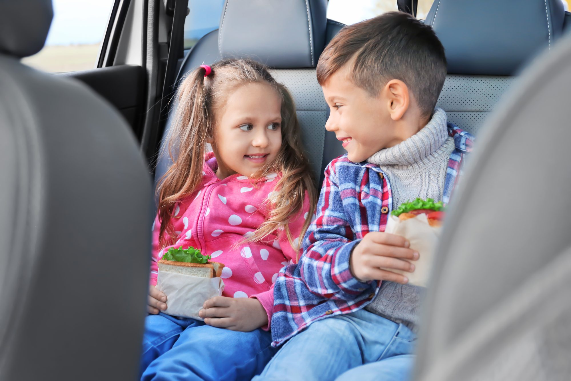 Healthy snacks are a must for road trips with kids