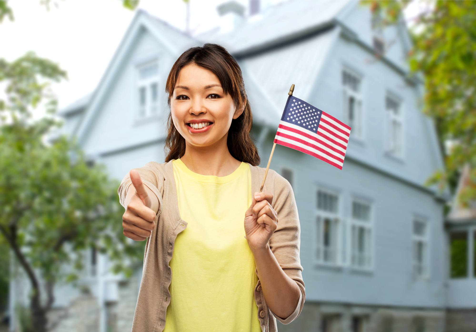 American Asian woman
