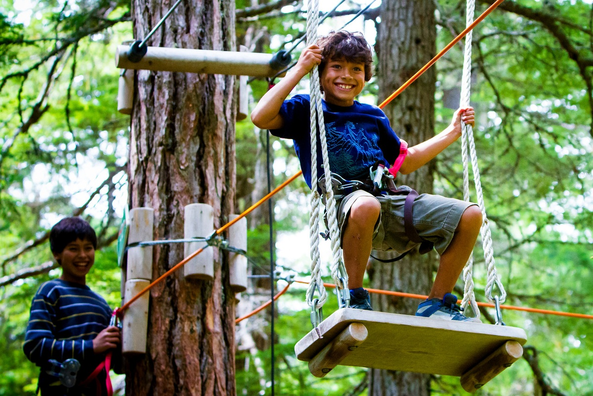 Treetop Adventure Course in Whistler
