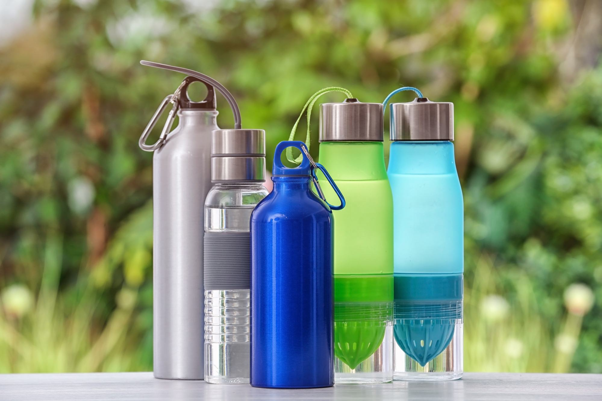 Water bottles are essential for staying hydrated when camping