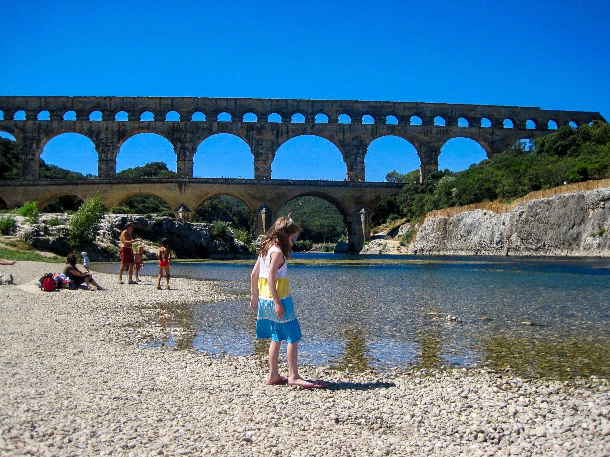 Pont du Garde Roman aquaduct in Nîmes, France