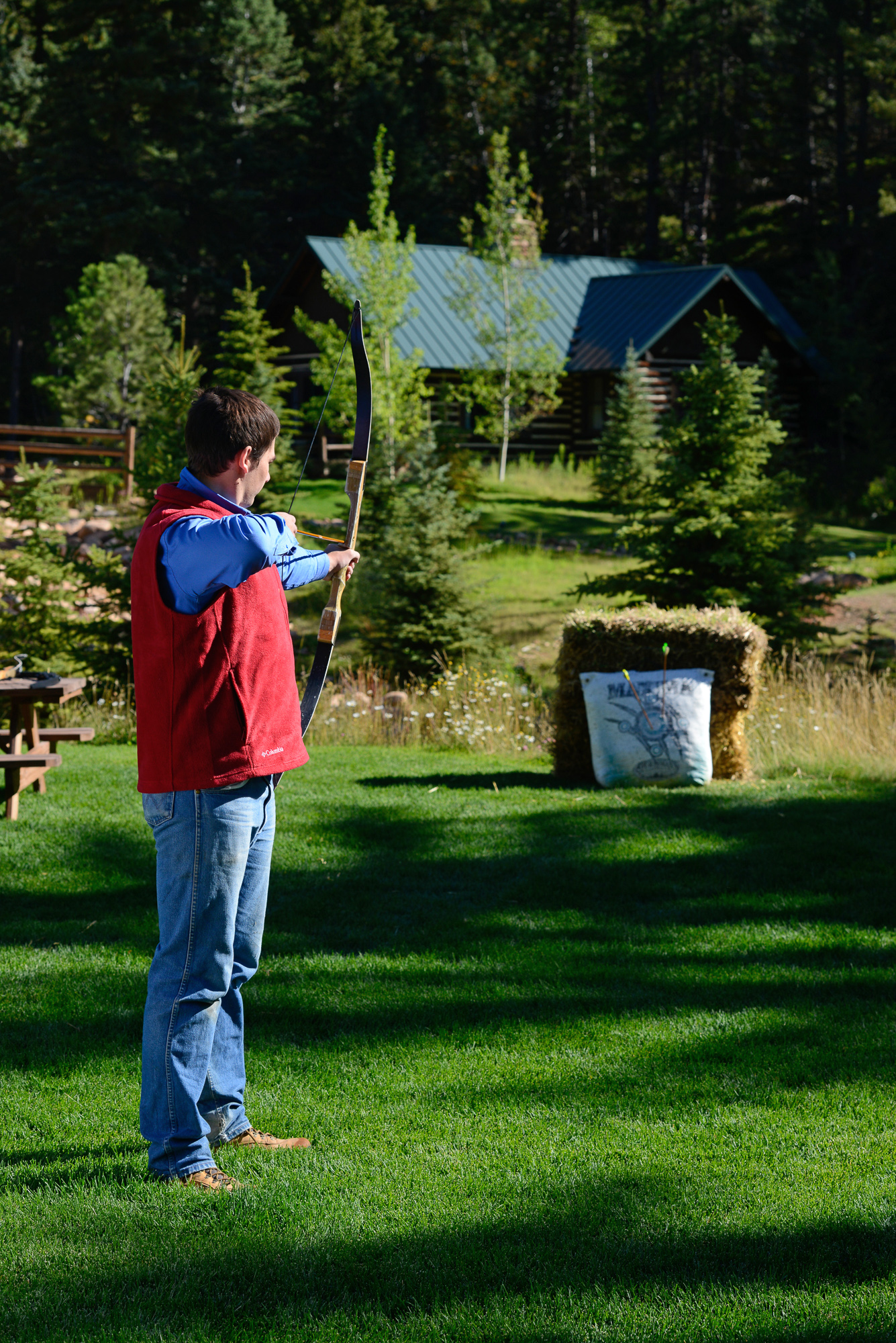 Enjoy archery during your glamping vacation in Colorado