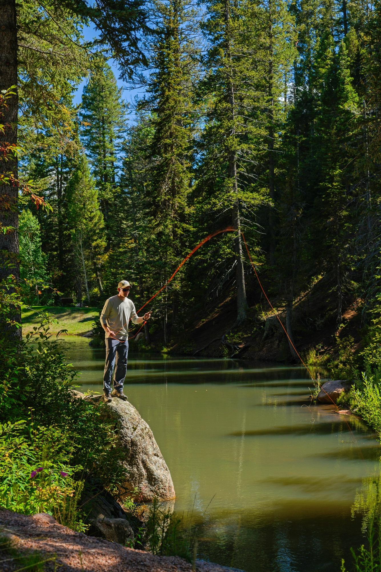 Fly-fishing at Broadmoor Ranch