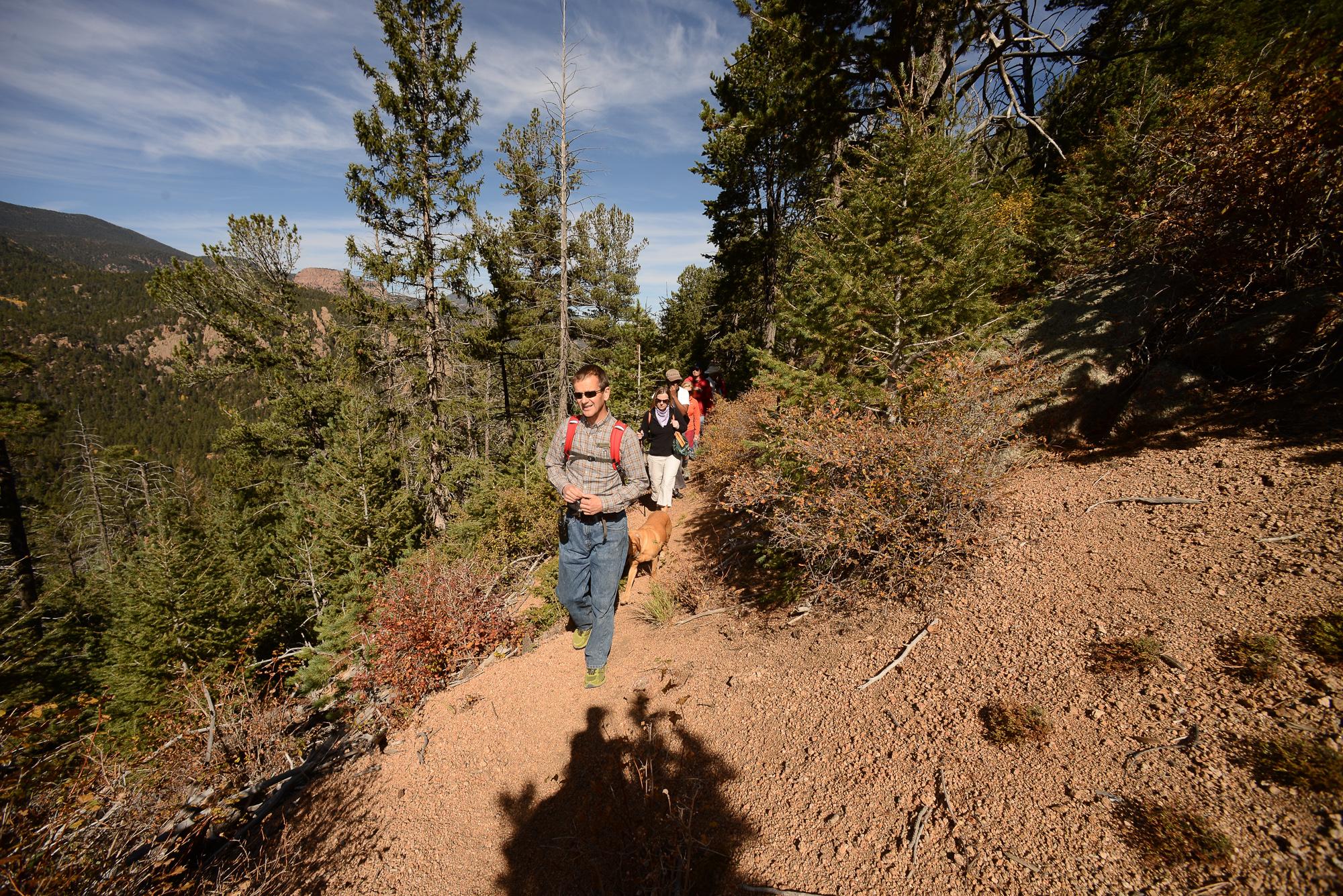 Hiking in Emerald Valley, Colorado