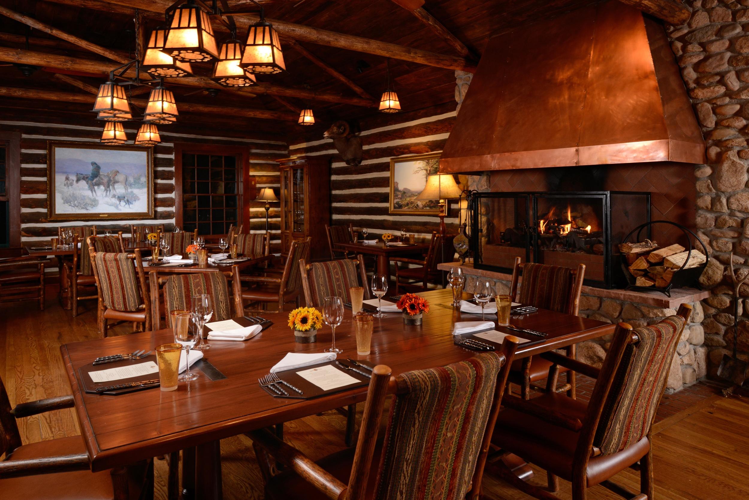 Dining at the main lodge at Broadmoor Ranch
