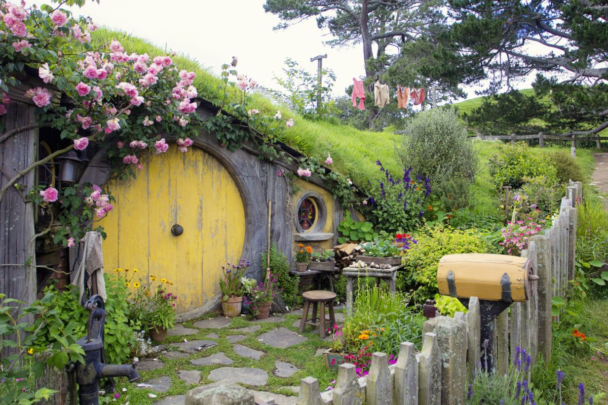 Hobbiton Lord of the Rings movie set in Matamata, New Zealand
