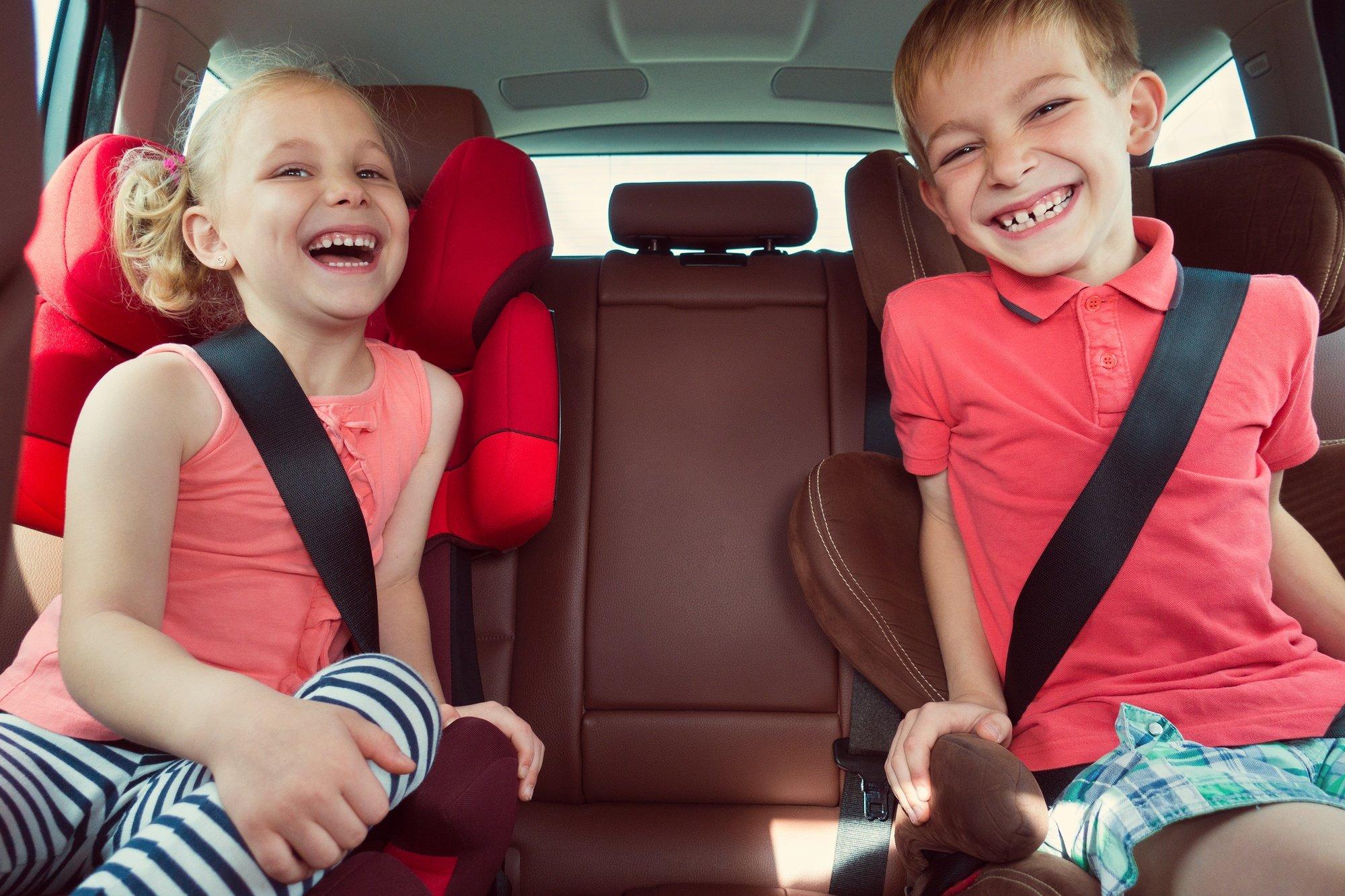 Grade school kids on road trip