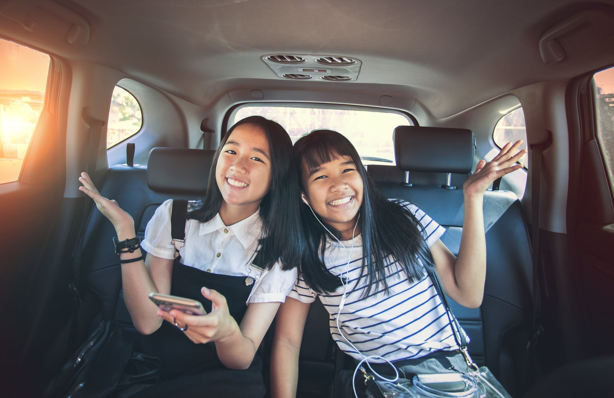 Teens on family road trip