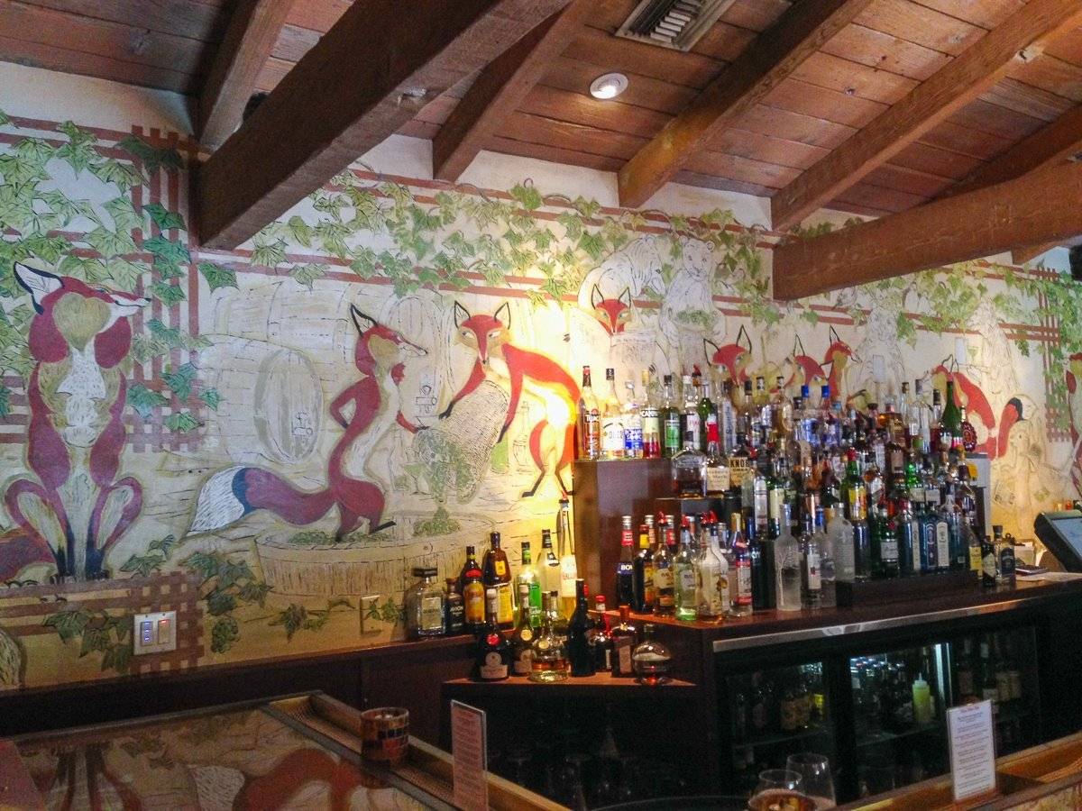 The Fox Den bar at La Casa Del Zorro in Borrego Springs