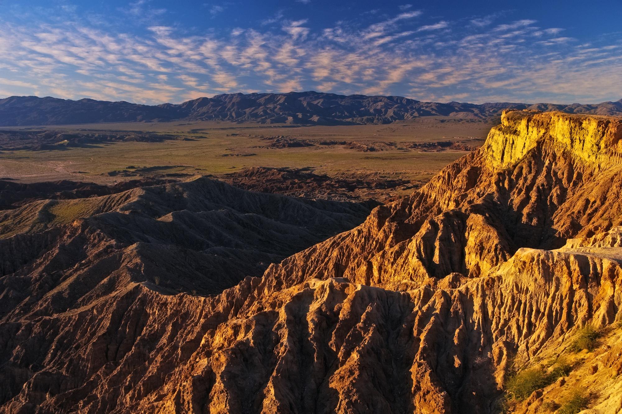 Stark landscape at Anza-Borrego State Desert Park