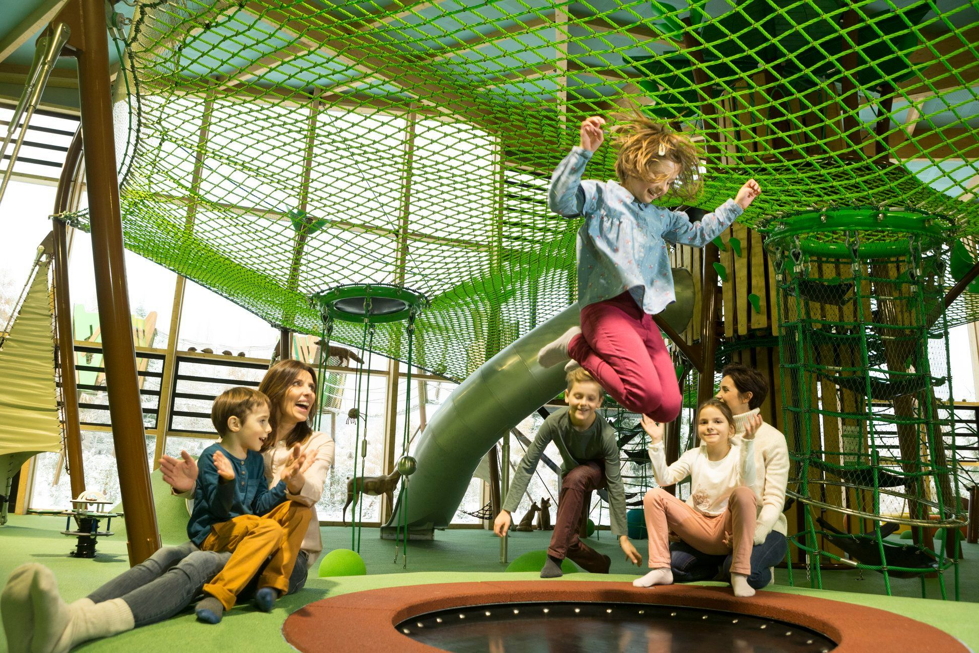 Impressive indoor play area at CenterParcs France Trois Forets