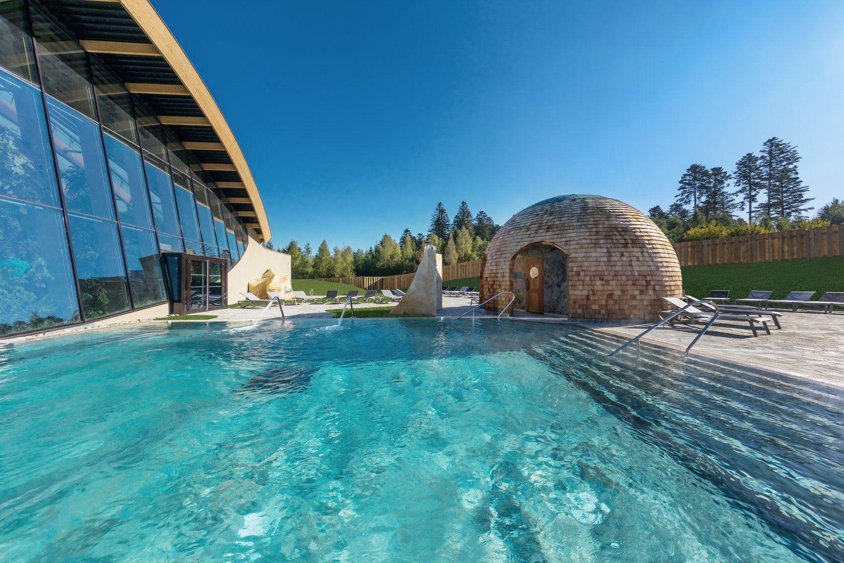 Outdoor pool at Deep Nature Spa