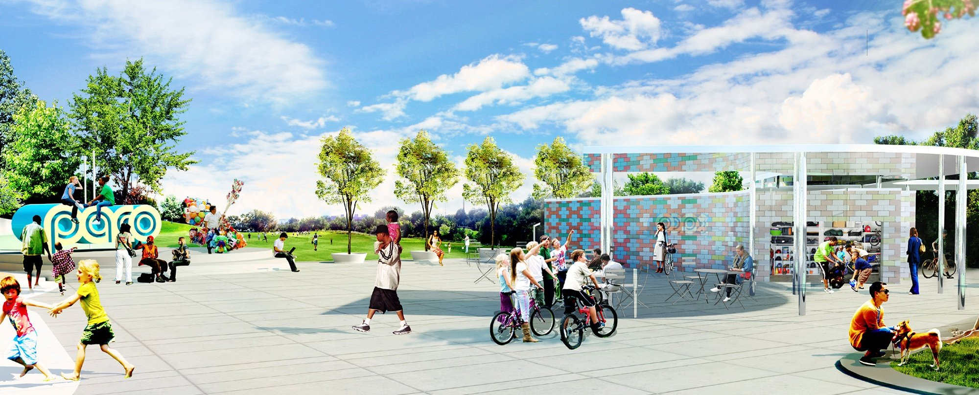 Artist's rendering of Paco Sanchez Park