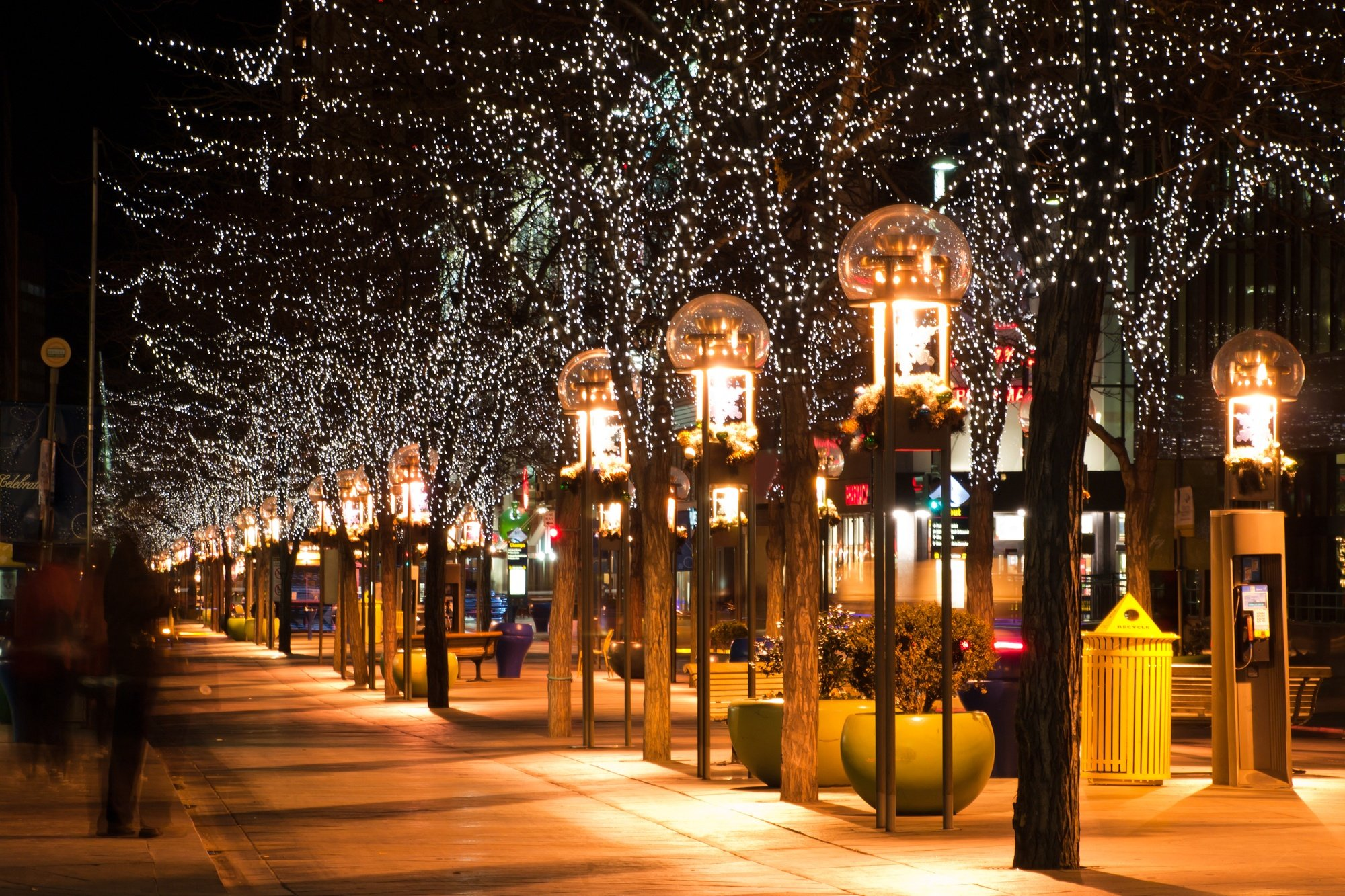 Denver's 16th Street Mall lit up for the holidays