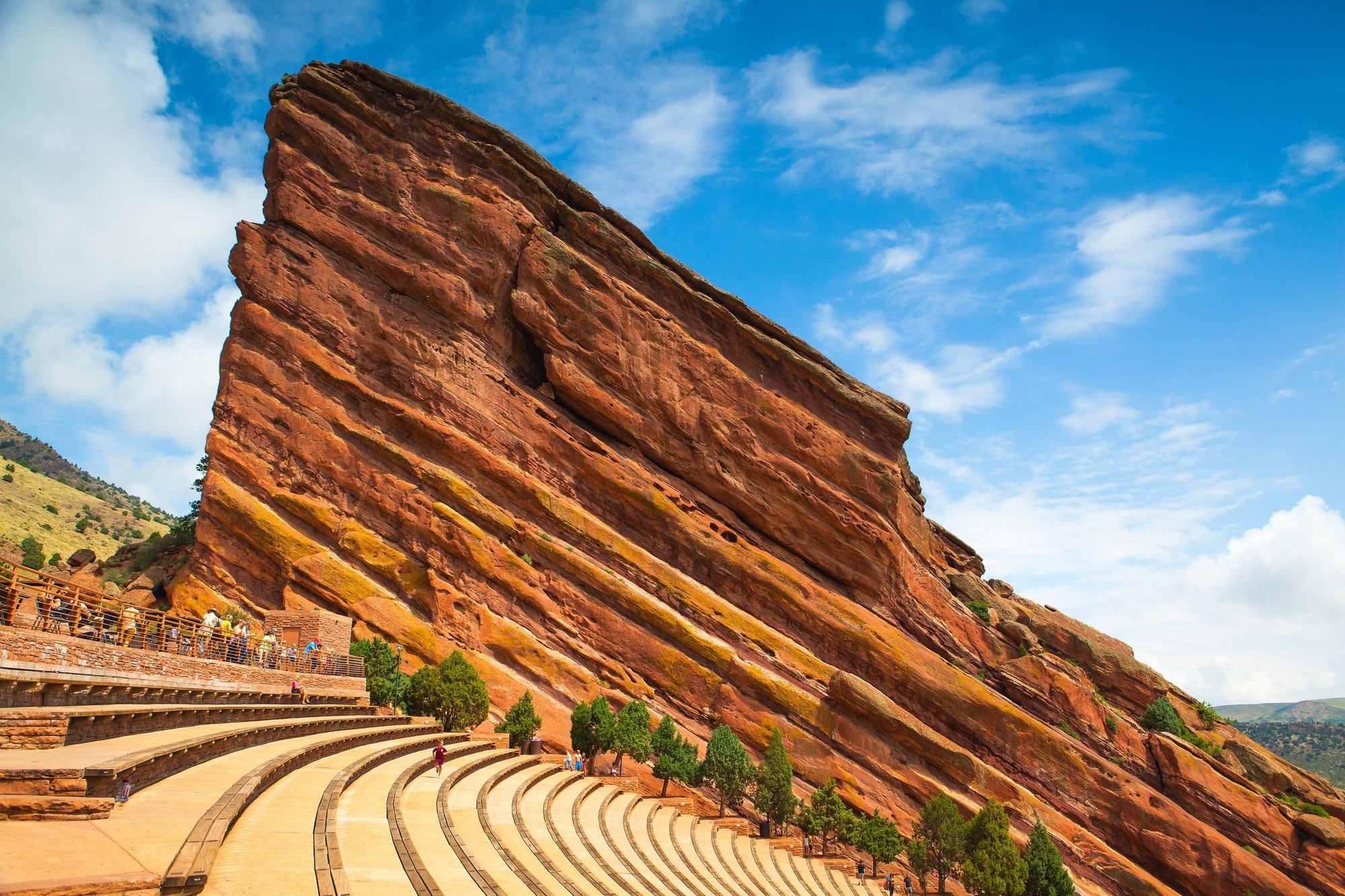 Red Rocks Amphitheater just outside Denver